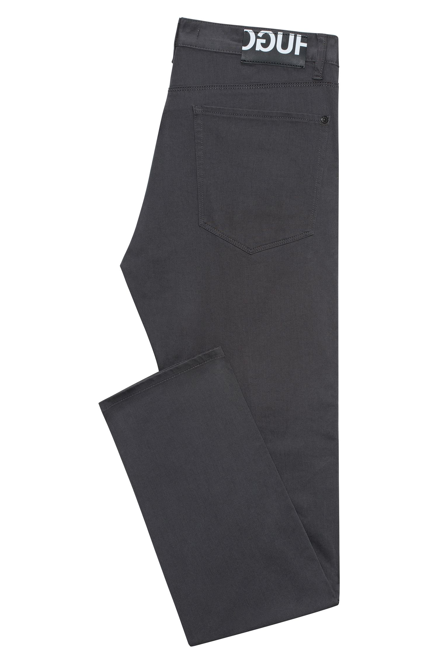 Slim-fit jeans van zwart stretchdenim