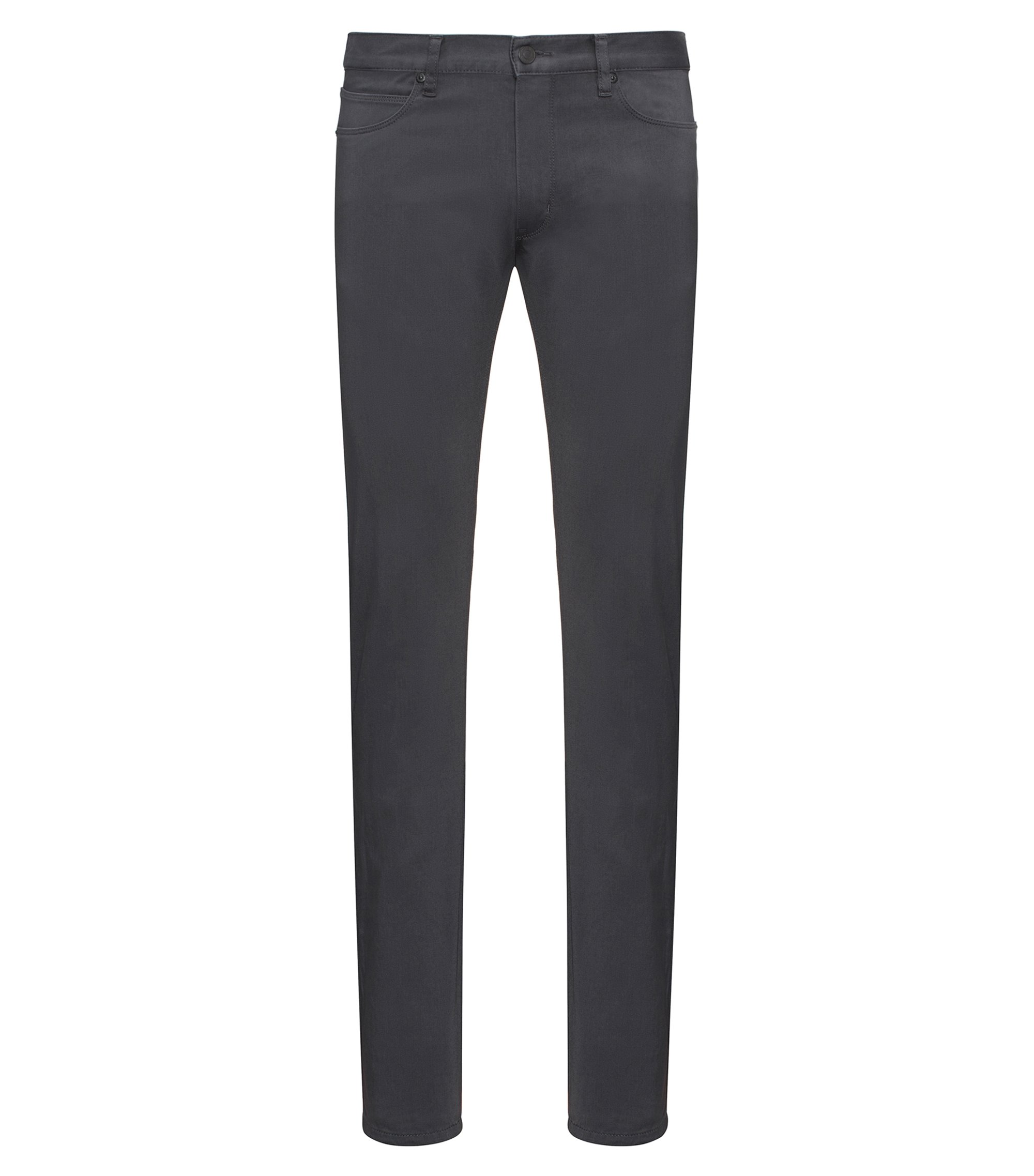 Jean Slim Fit noir en denim stretch, Gris sombre