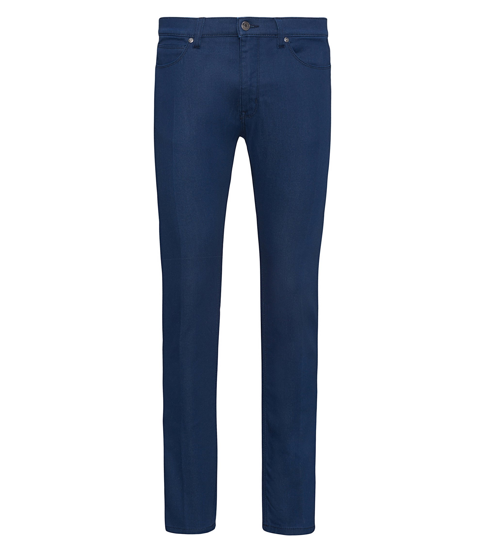 Jeans skinny fit blu medio in denim elasticizzato, Blu scuro