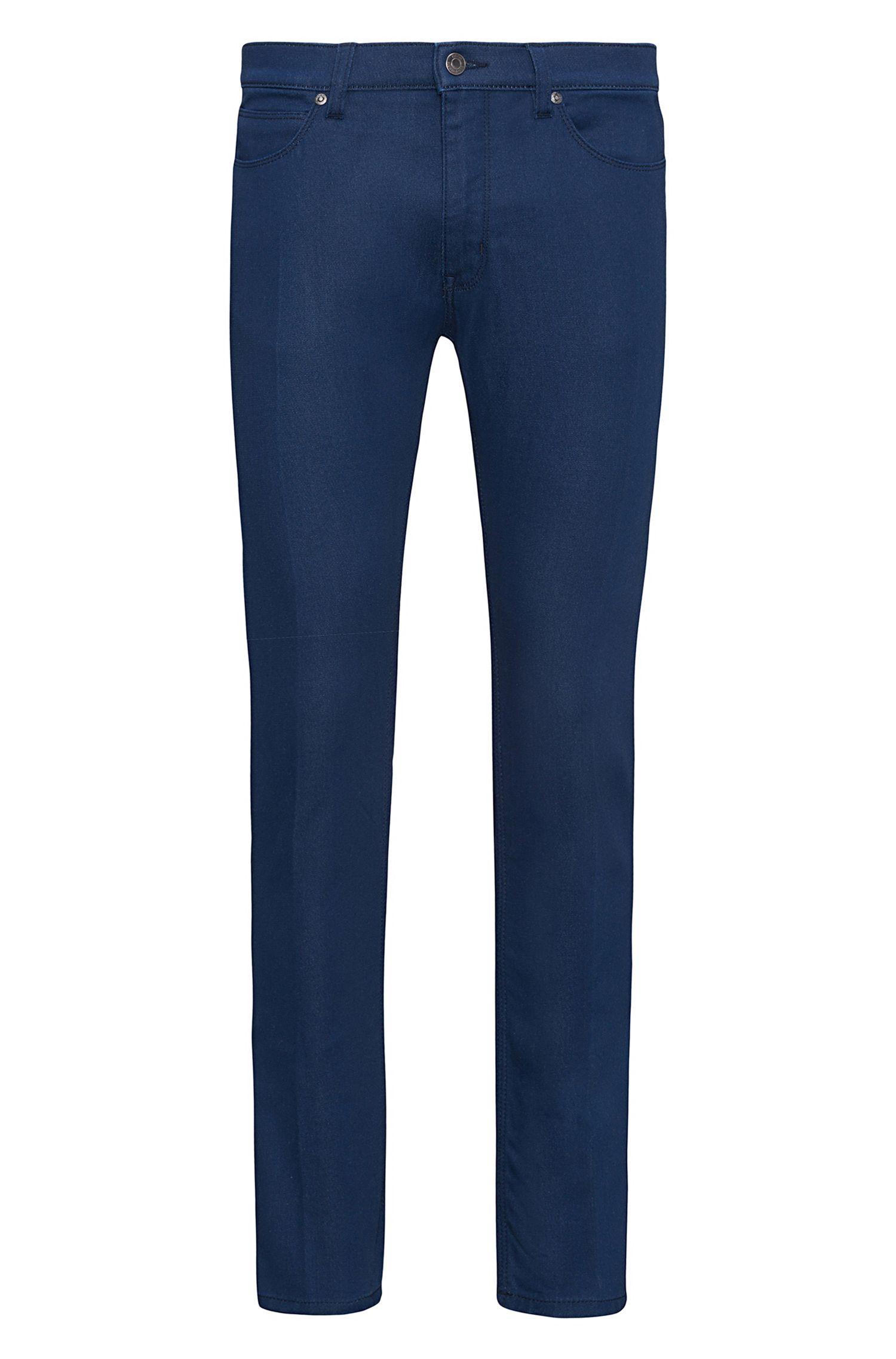Skinny-fit jeans van middelblauw stretchdenim