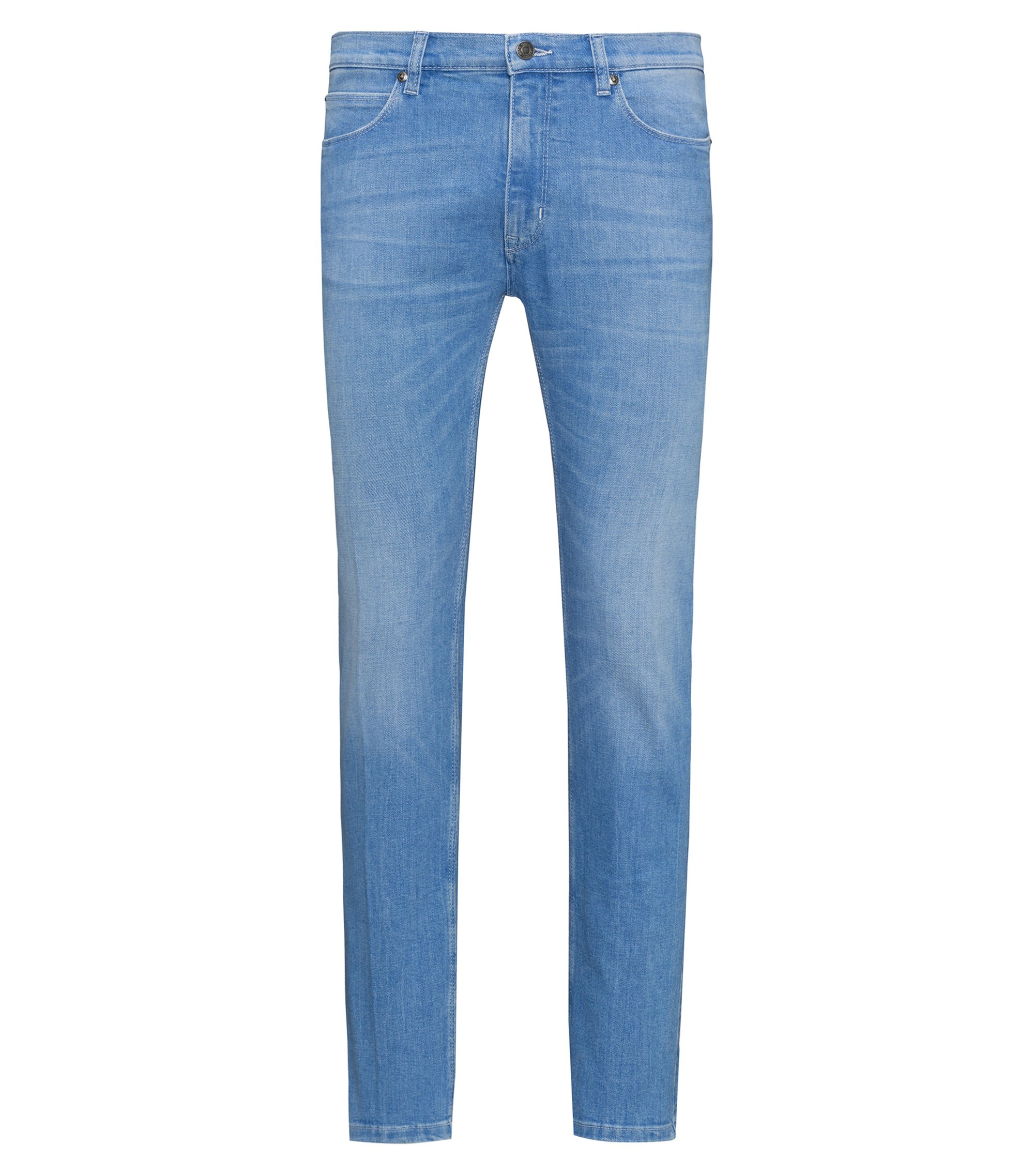 Jeans a vita bassa skinny fit in denim elasticizzato, Turchese