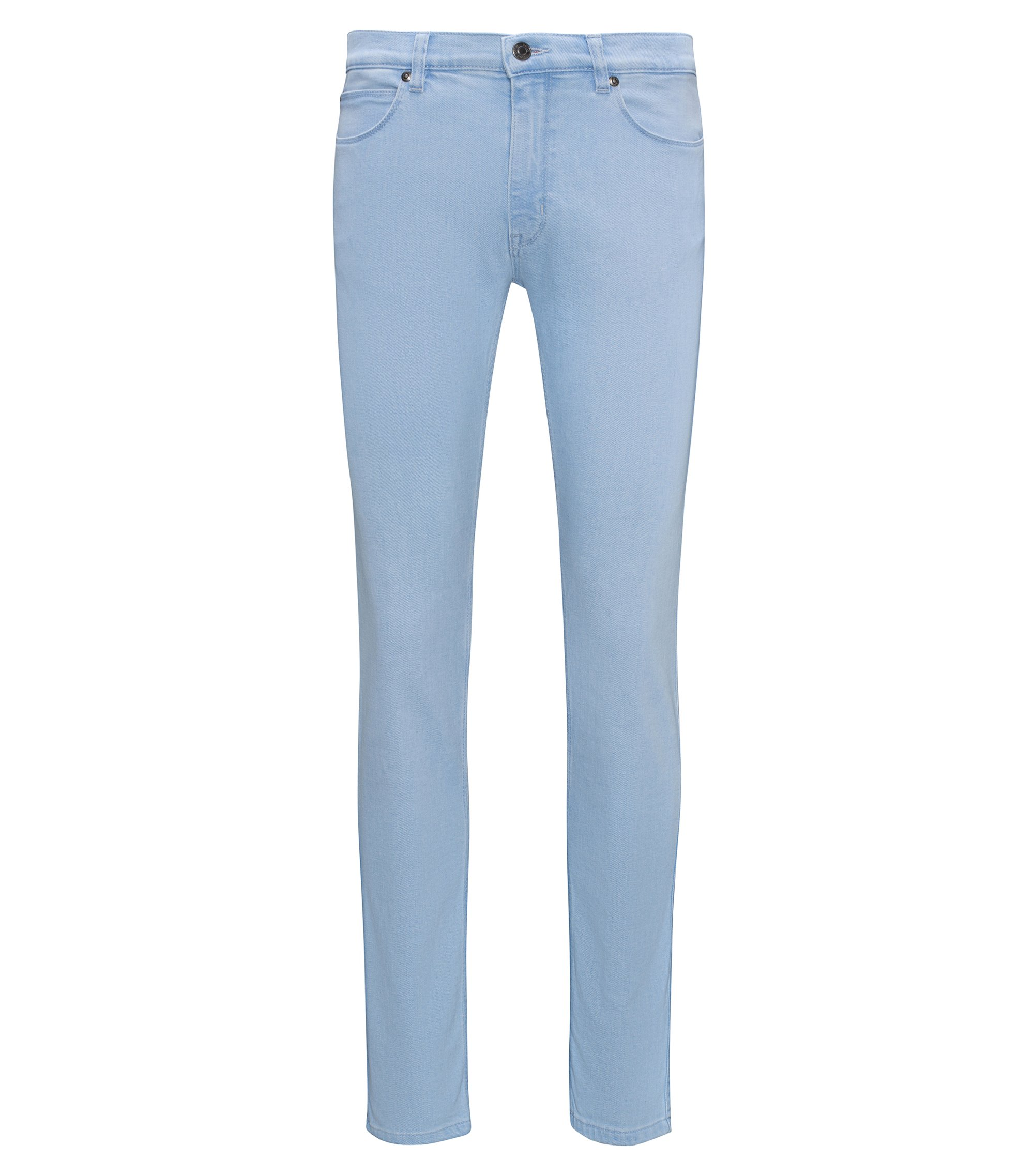 Jean Skinny Fit en denim stretch bleu clair, Bleu vif