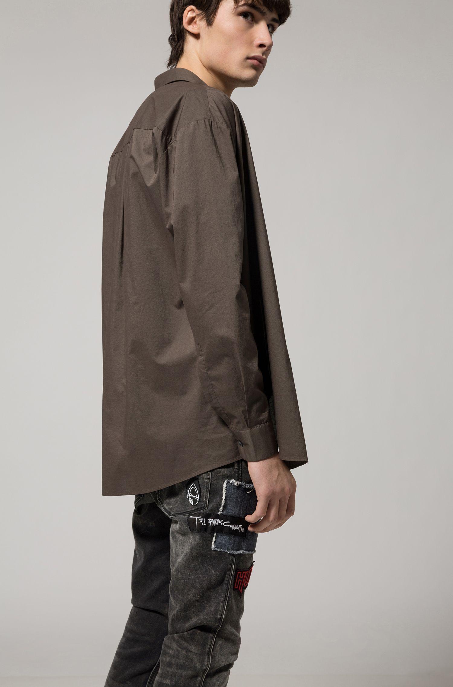Skinny-fit jeans van stretchdenim met garneersels