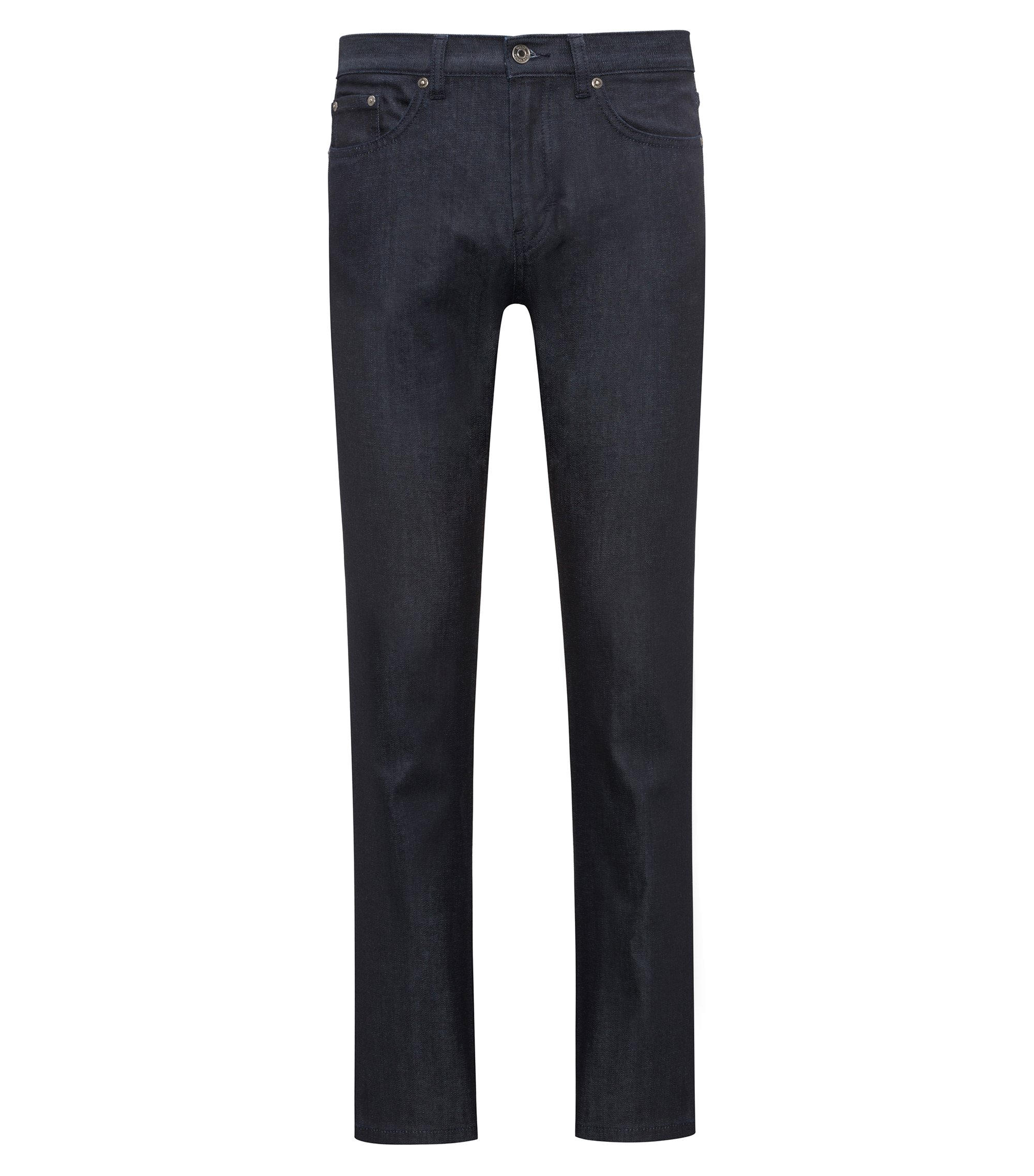 Jeans regular fit in denim elasticizzato blu scuro, Blu scuro