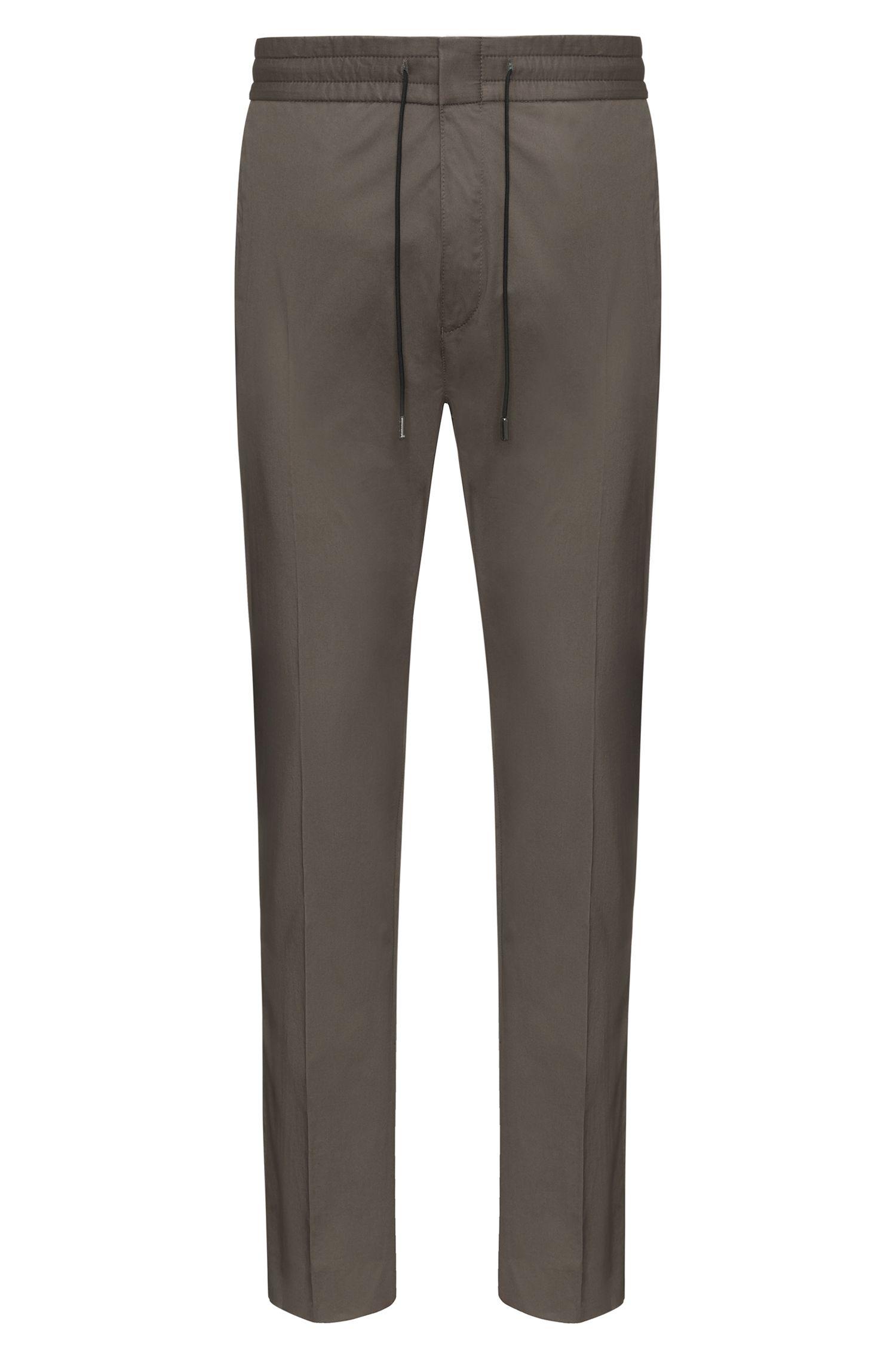Tapered-Fit Hose aus Stretch-Baumwolle mit Paper-Touch-Effekt