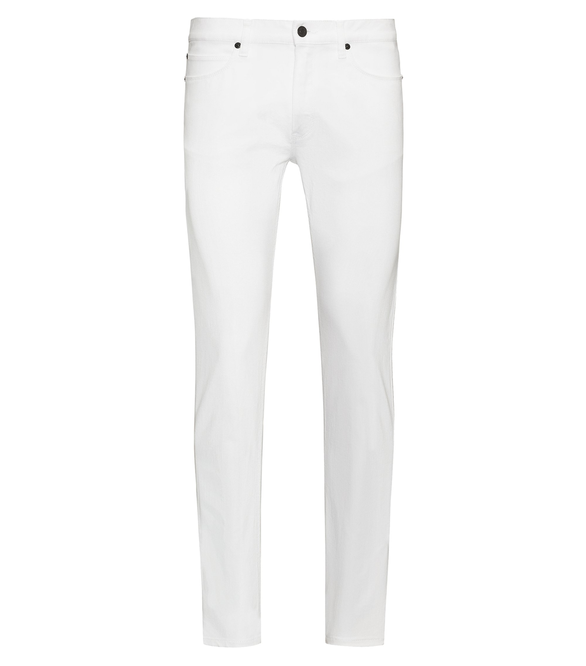 Jean Skinny Fit en denim stretch blanc, Blanc