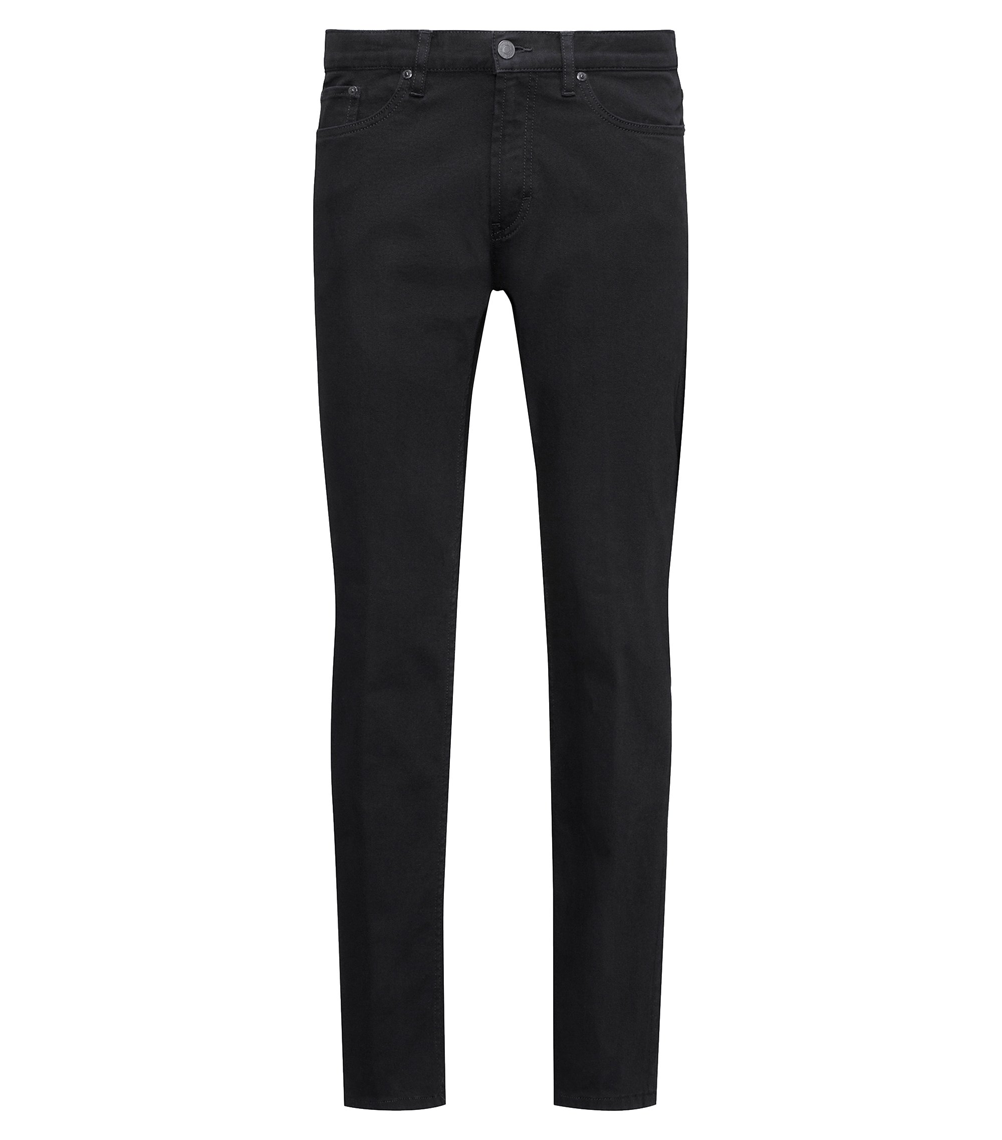 Jean Regular Fit en denim stretch noir, Noir