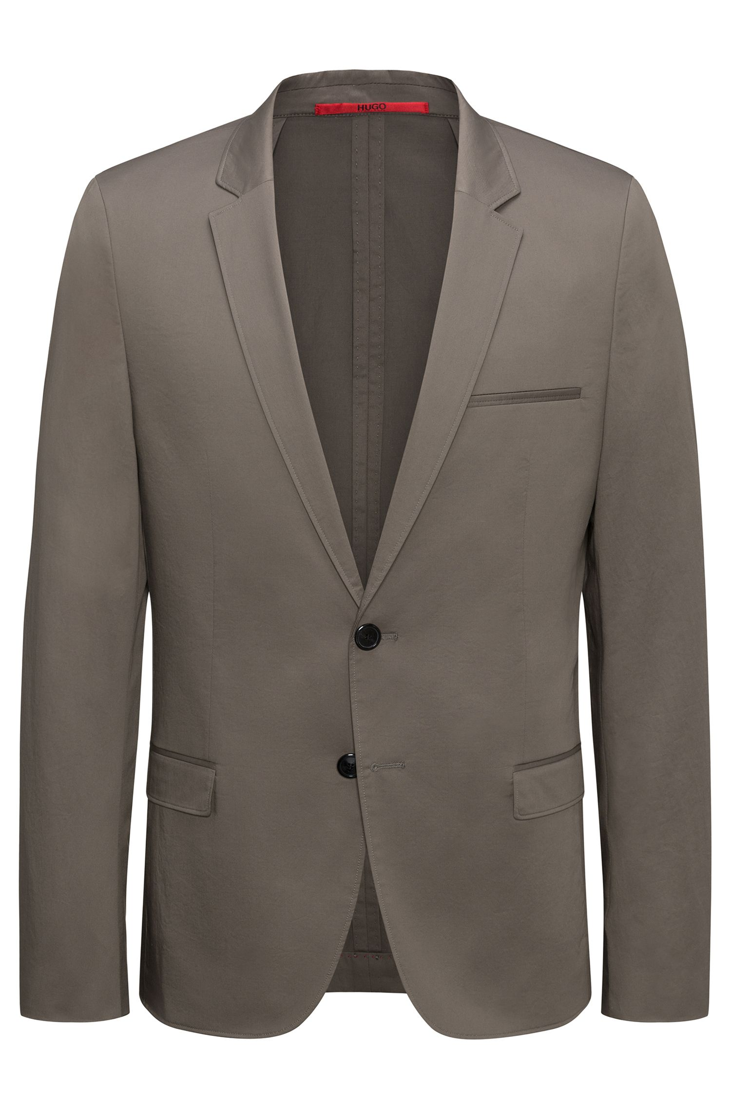 Unlined extra-slim-fit jacket in stretch cotton