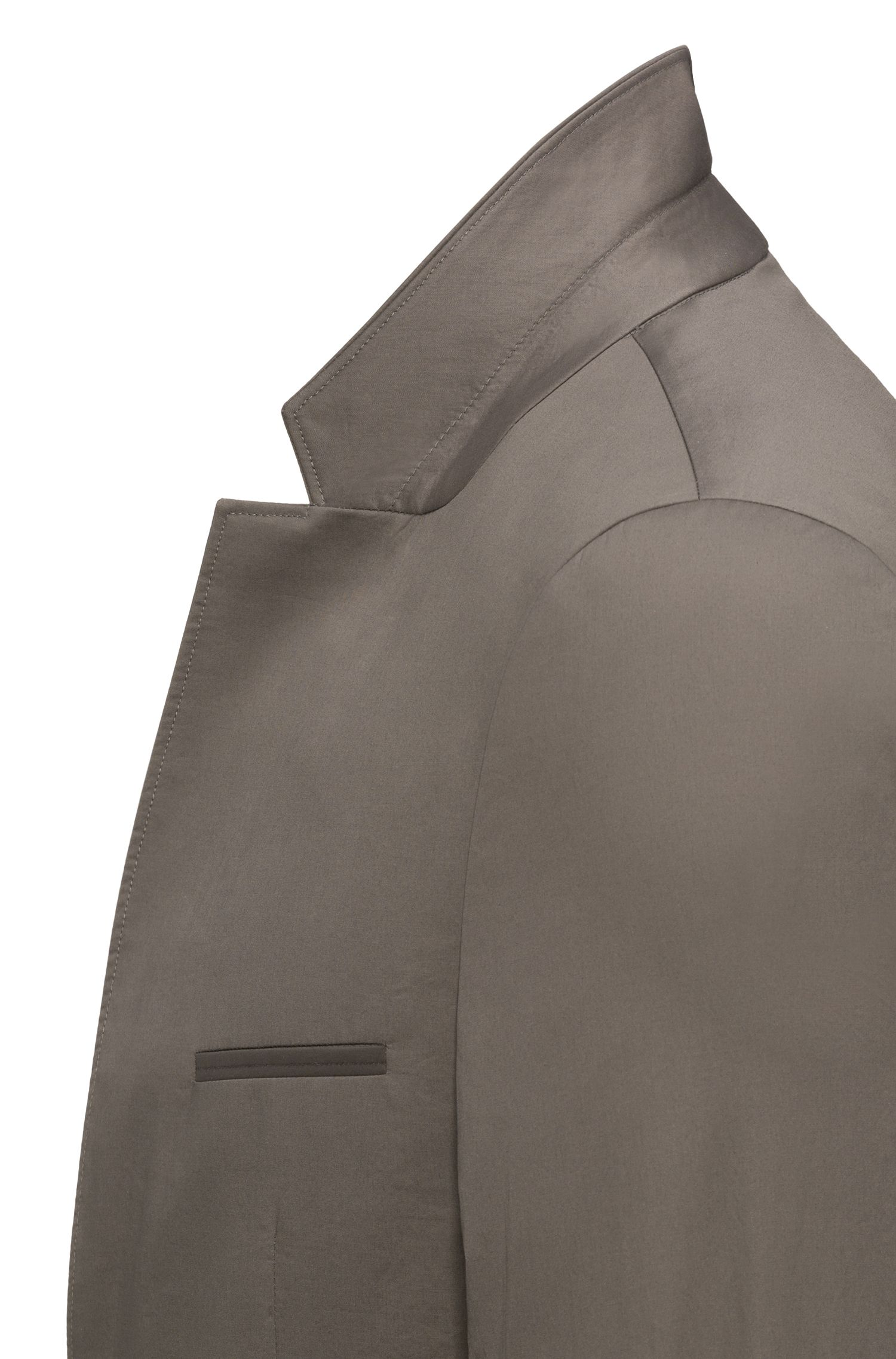 Giacca extra slim fit senza fodera interna in cotone elasticizzato