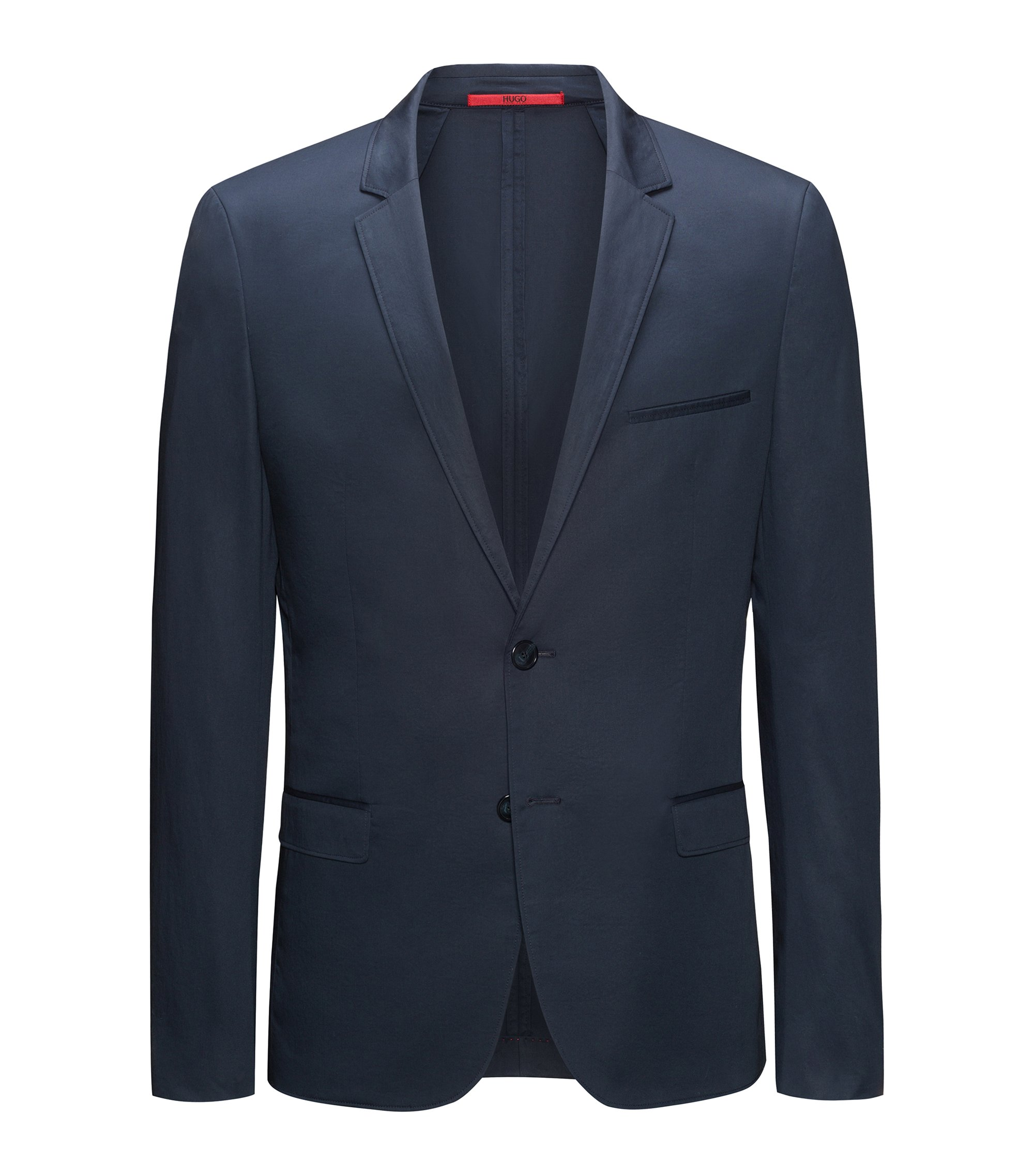HUGO BOSS Veste zippée Slim Fit en coton stretch