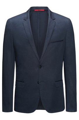 HUGO BOSS Veste zippée Slim Fit en coton stretch wjrs1Nk