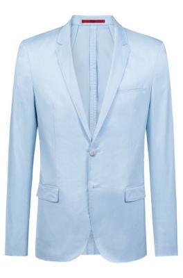 Veste Extra Slim Fit non doublée en coton stretch, Bleu vif