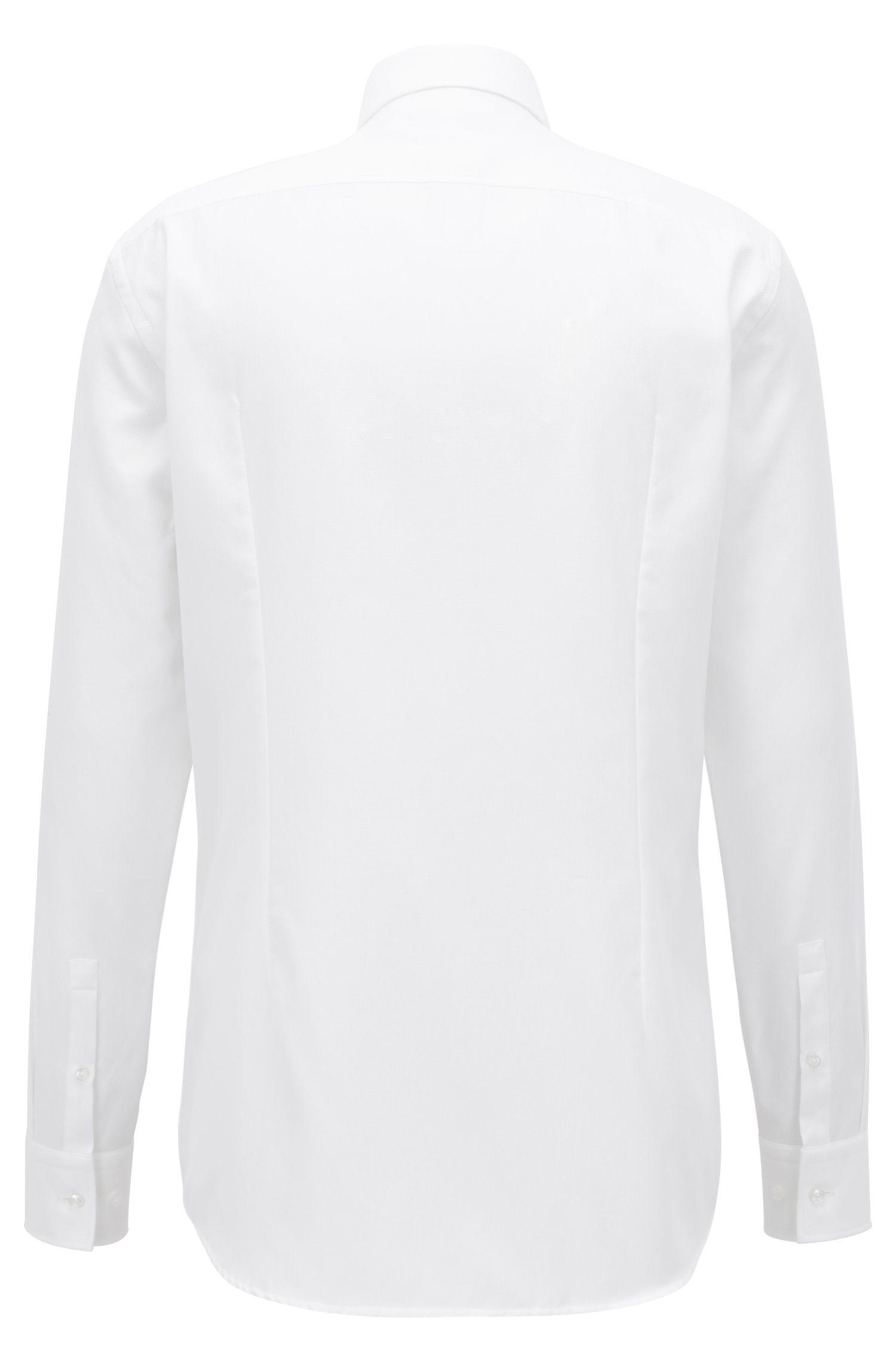 Slim-Fit Hemd aus Baumwolle mit filigraner Struktur