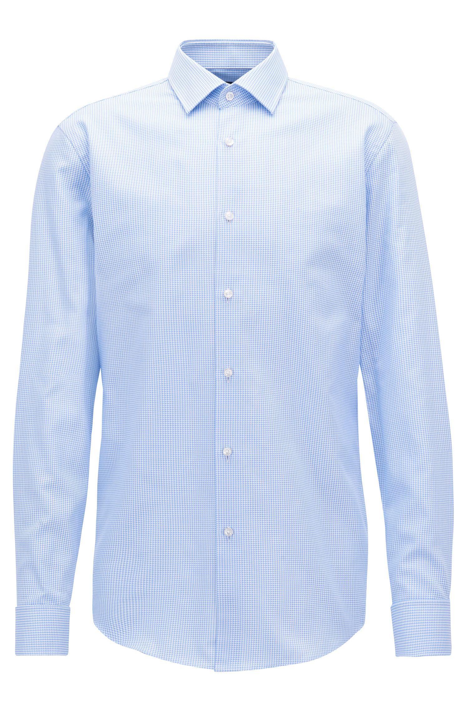 Chemise Slim Fit en coton, à poignets mousquetaires