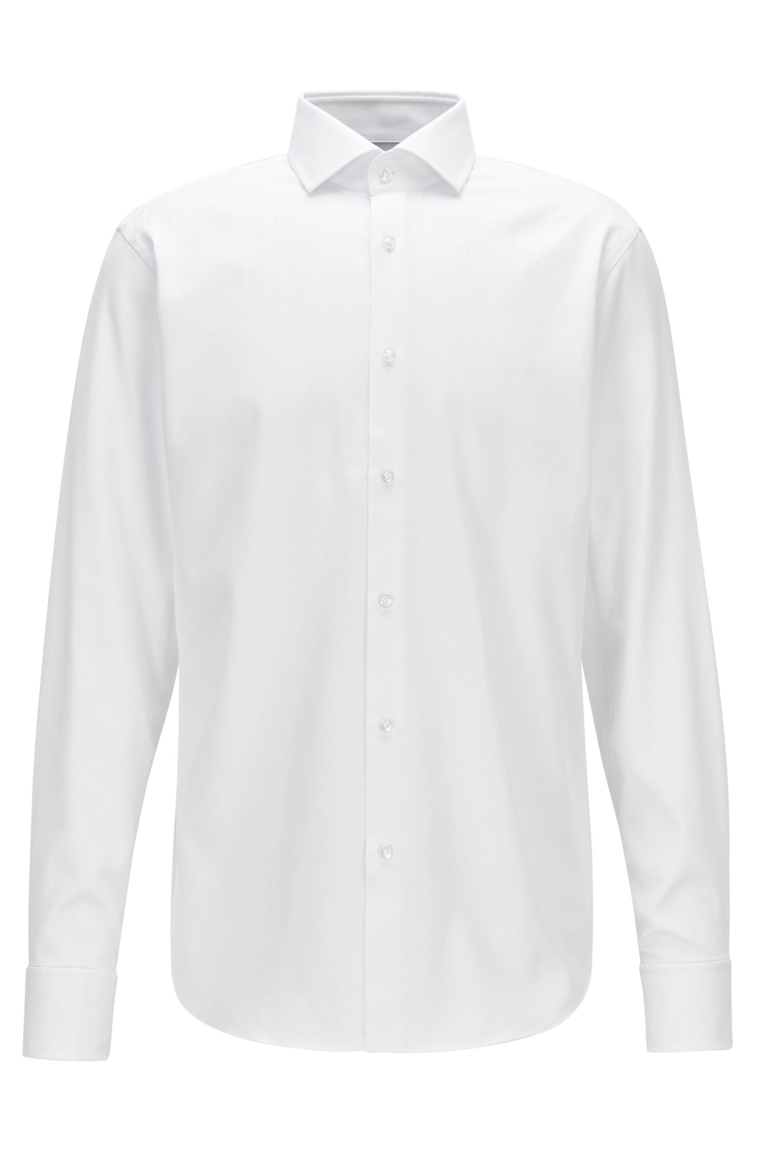 Chemise business Regular Fit en coton structuré