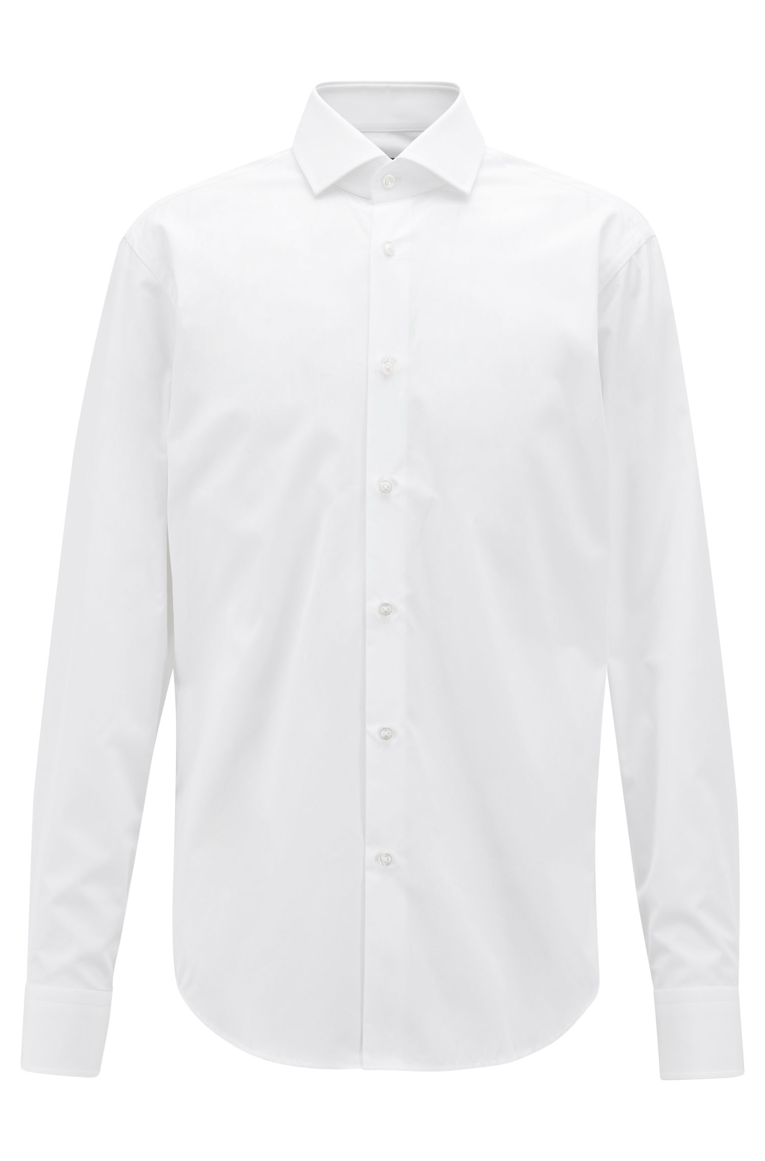 Regular-fit shirt in two-ply Italian cotton