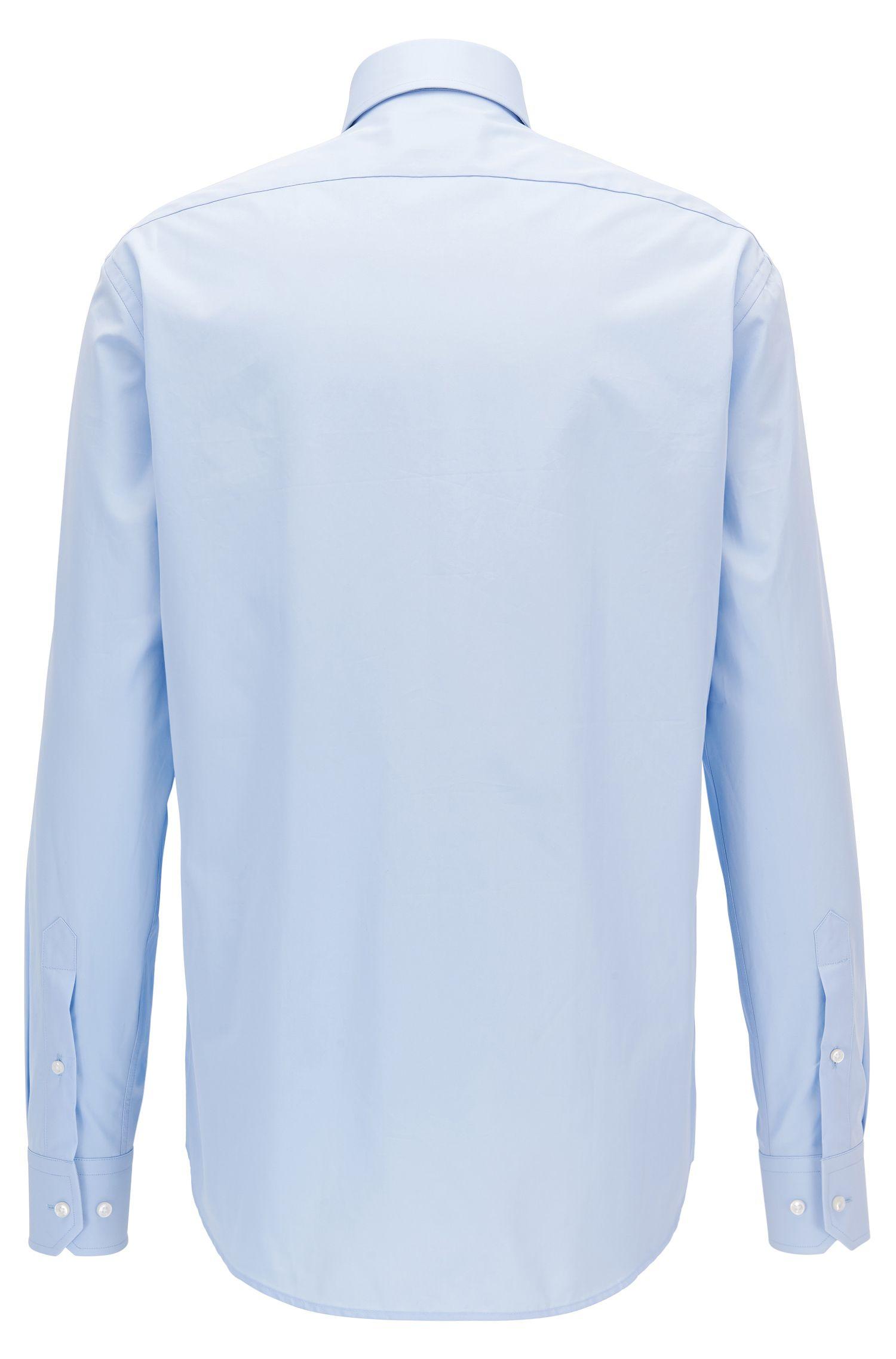 Camicia regular fit in cotone a doppio strato realizzato in Italia