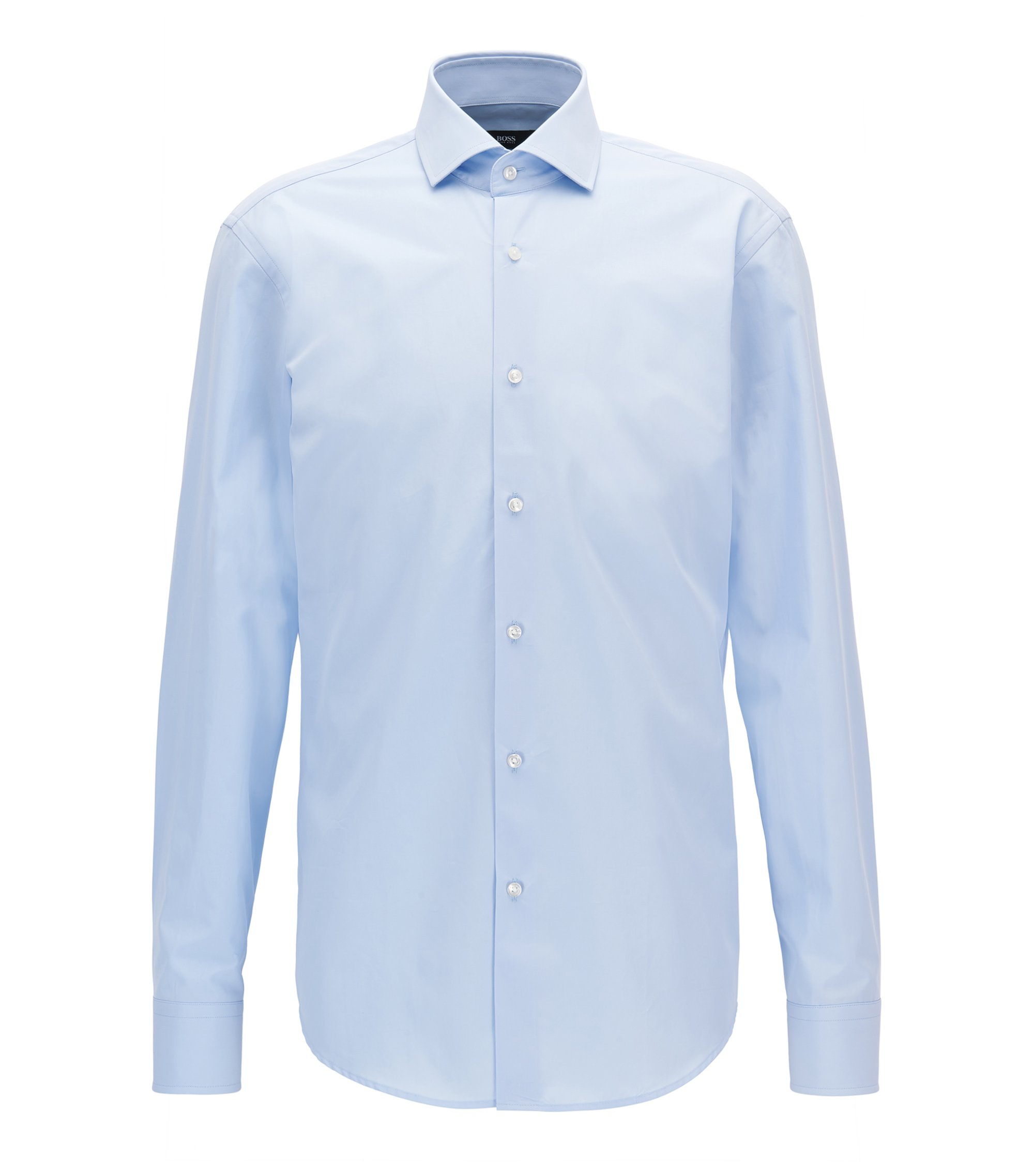Chemise Regular Fit en coton italien double retors , Bleu vif