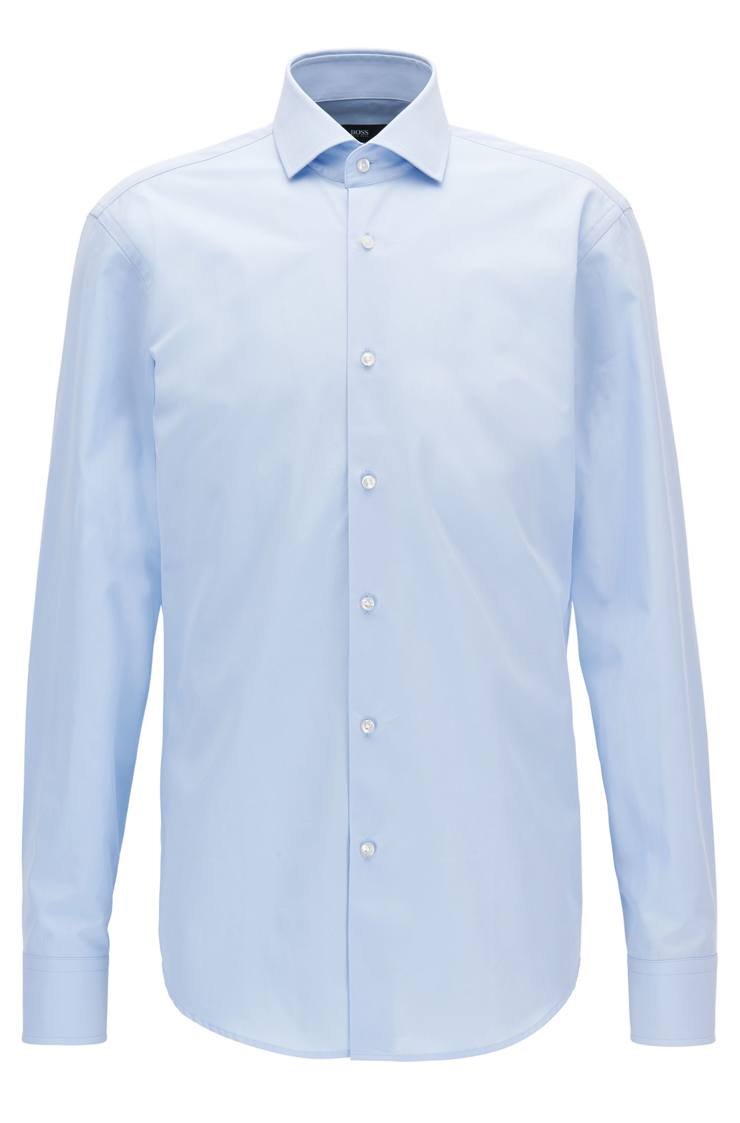 Chemise Regular Fit en coton italien double retors