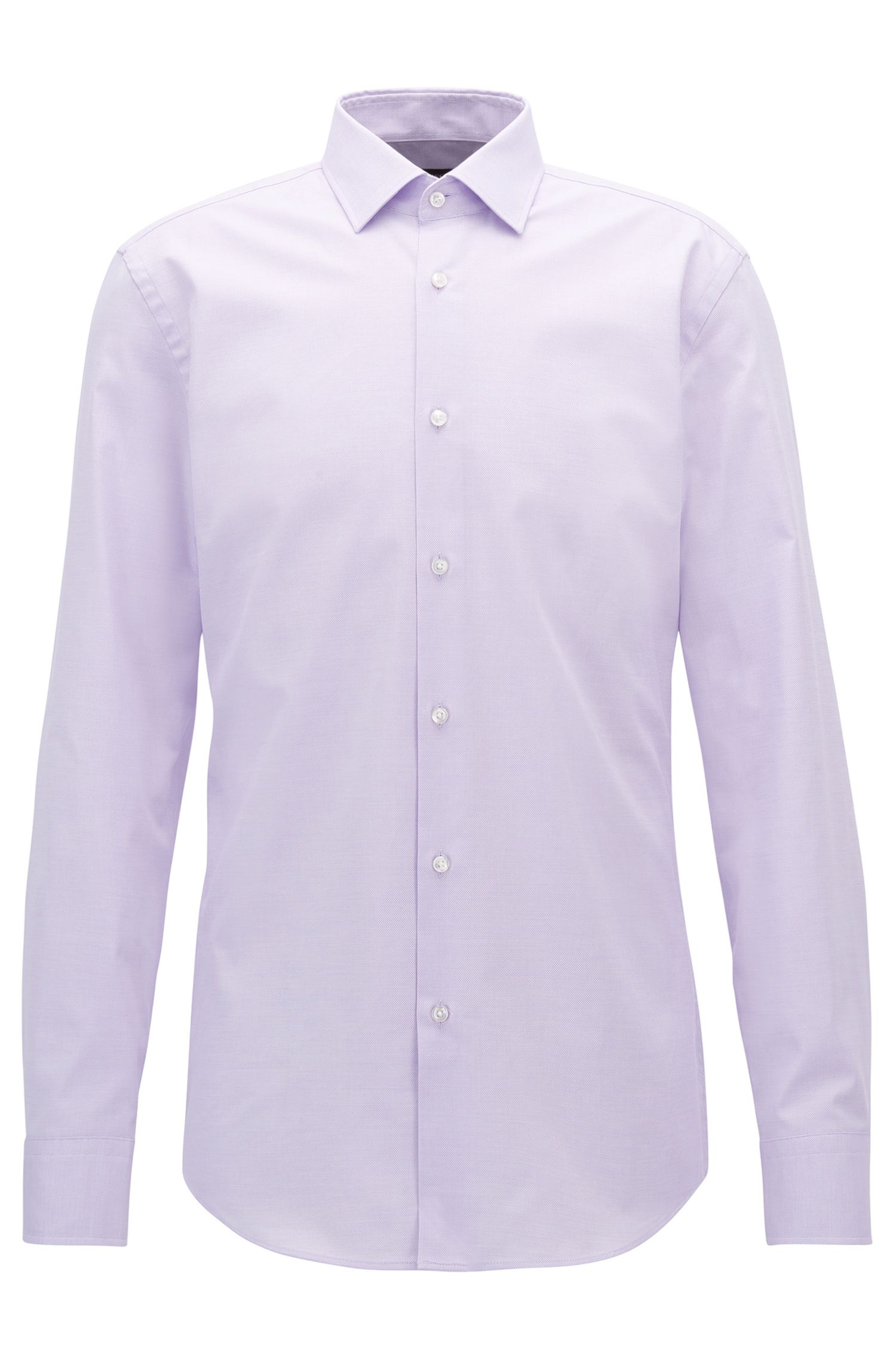 Chemise Slim Fit en coton stretch à micro motif
