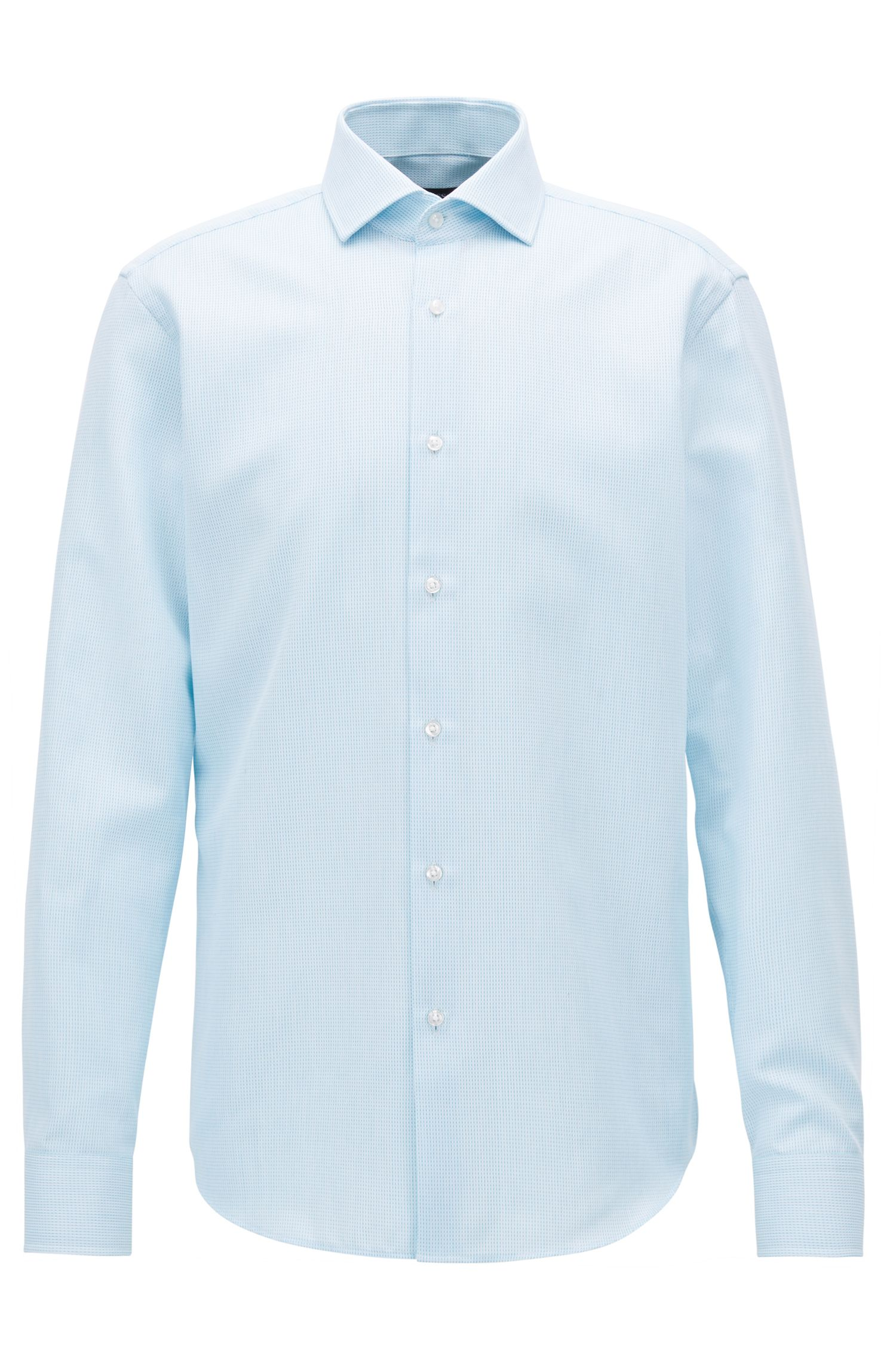 Camicia regular fit in cotone egiziano a quadri Vichy