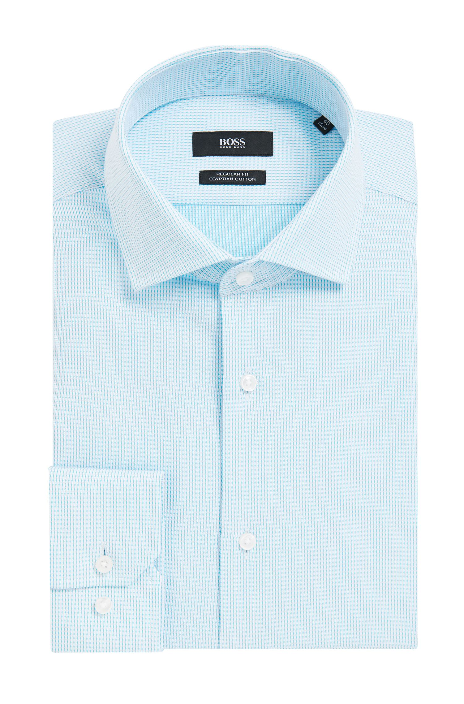 Regular-fit Vichy-check shirt in Egyptian cotton