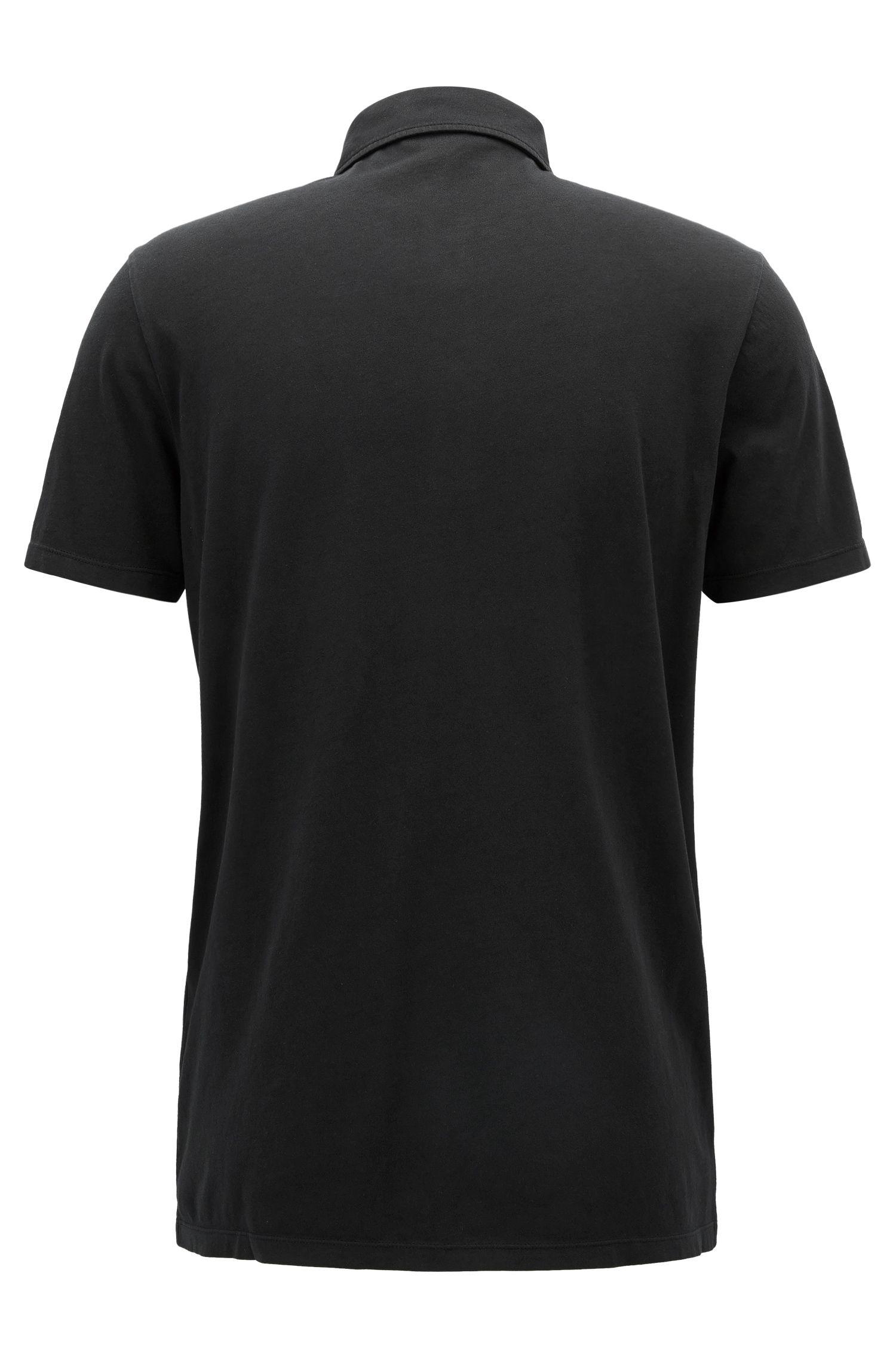 Regular-Fit Poloshirt aus stückgefärbtem Single Jersey