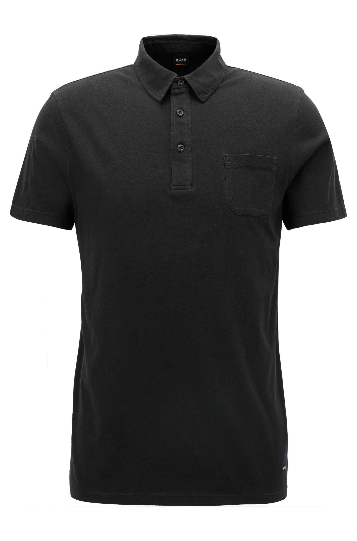 Regular-fit poloshirt van garment-dyed singlejersey