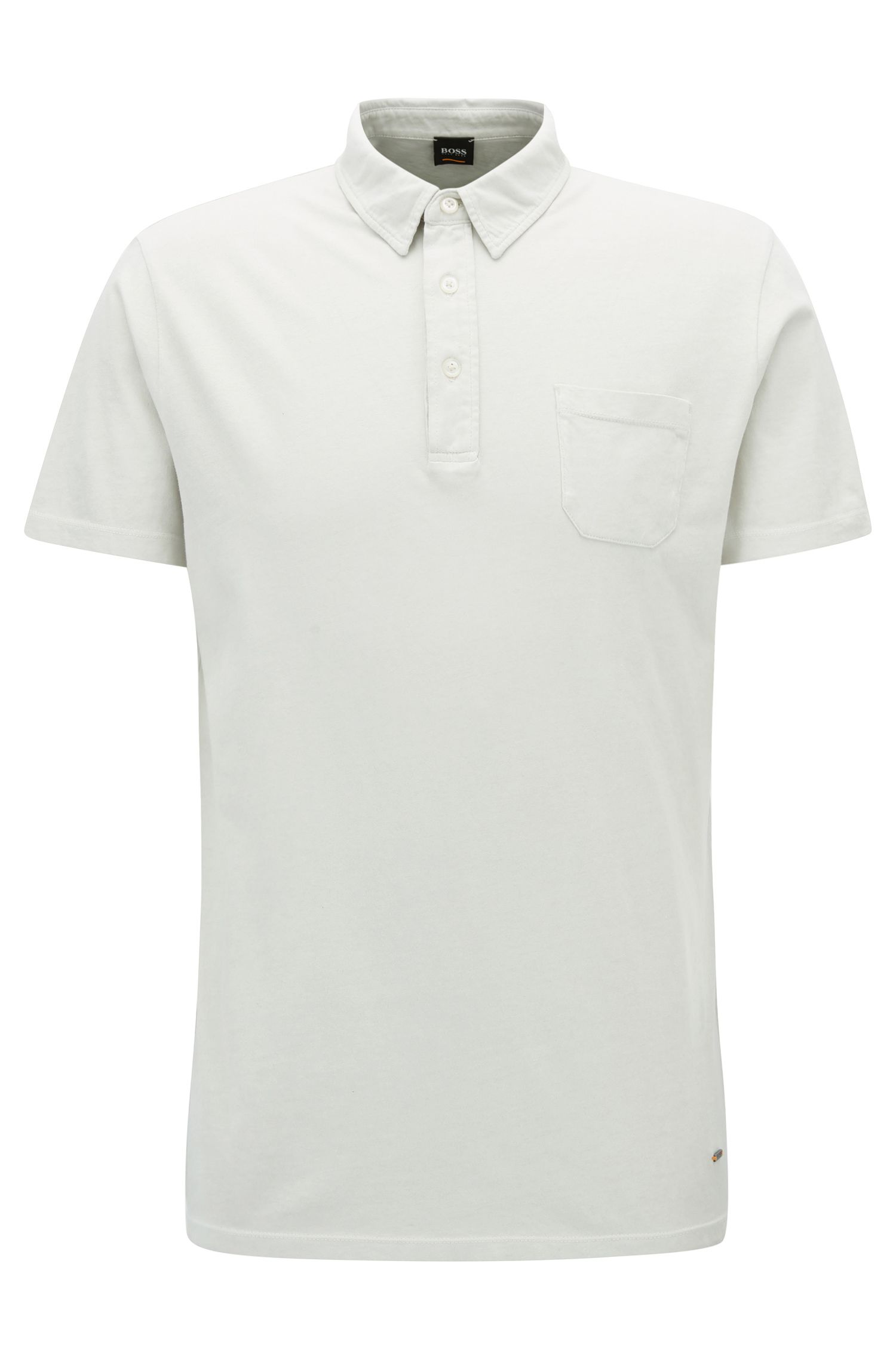 Regular-fit polo shirt in garment-dyed single jersey