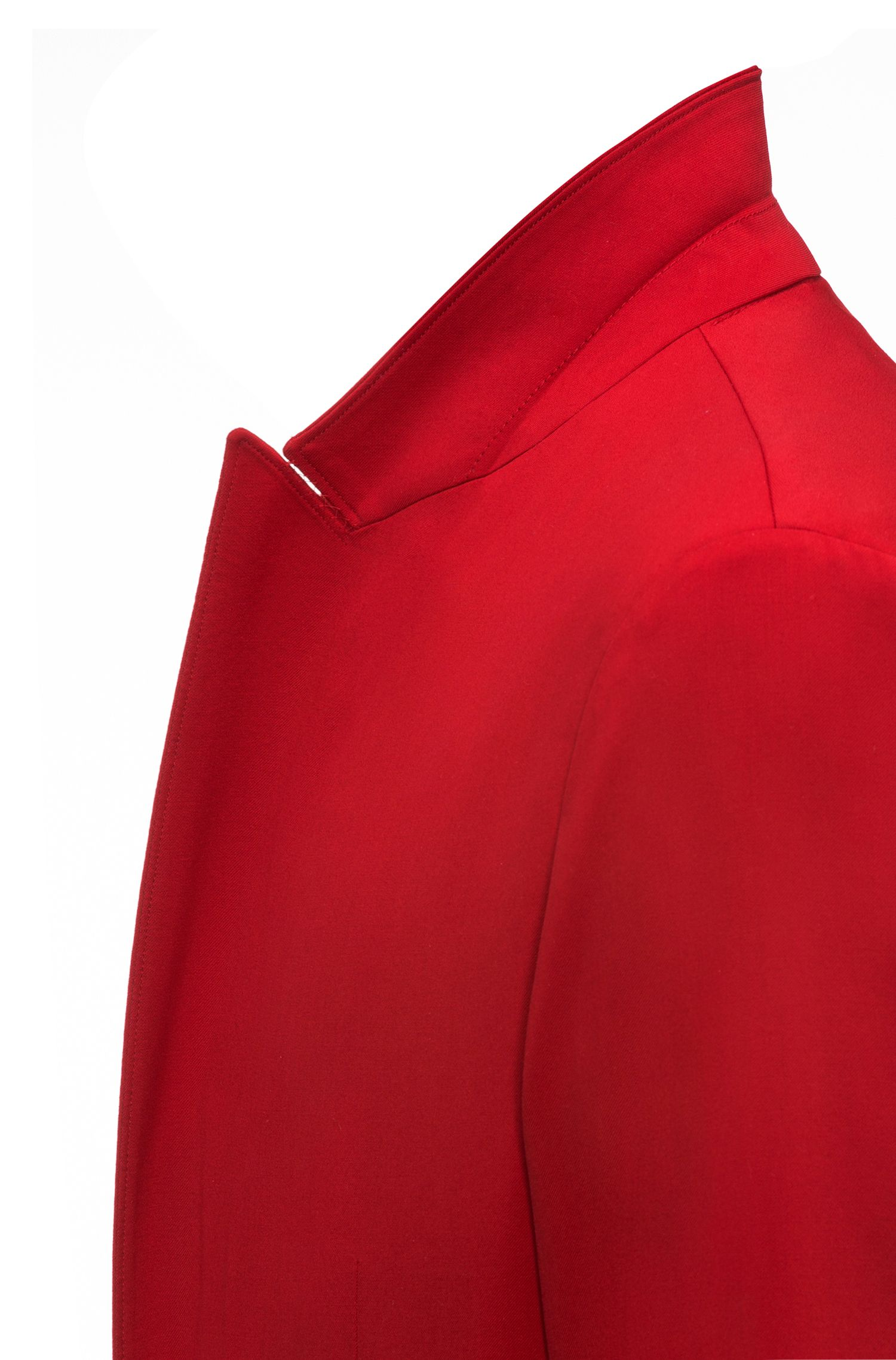 Oversized woljas met twee rijen knopen