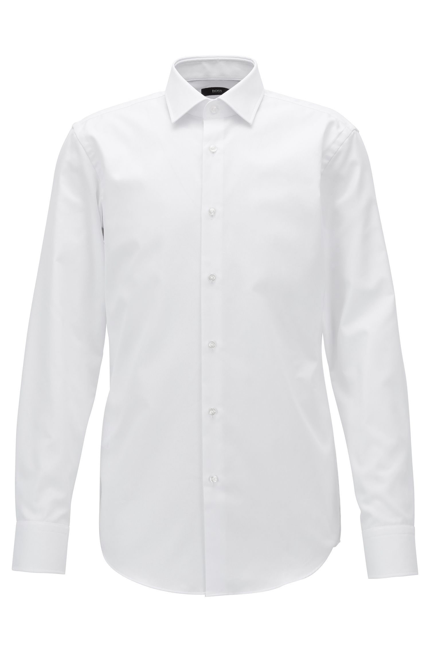 Chemise Slim Fit en coton à micro carreaux avec finition Fresh Active