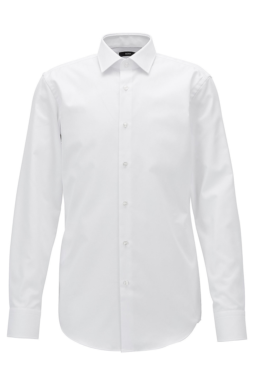 Slim-fit micro-check cotton shirt with Fresh Active finish BOSS Cheap With Credit Card dz64ut7RO