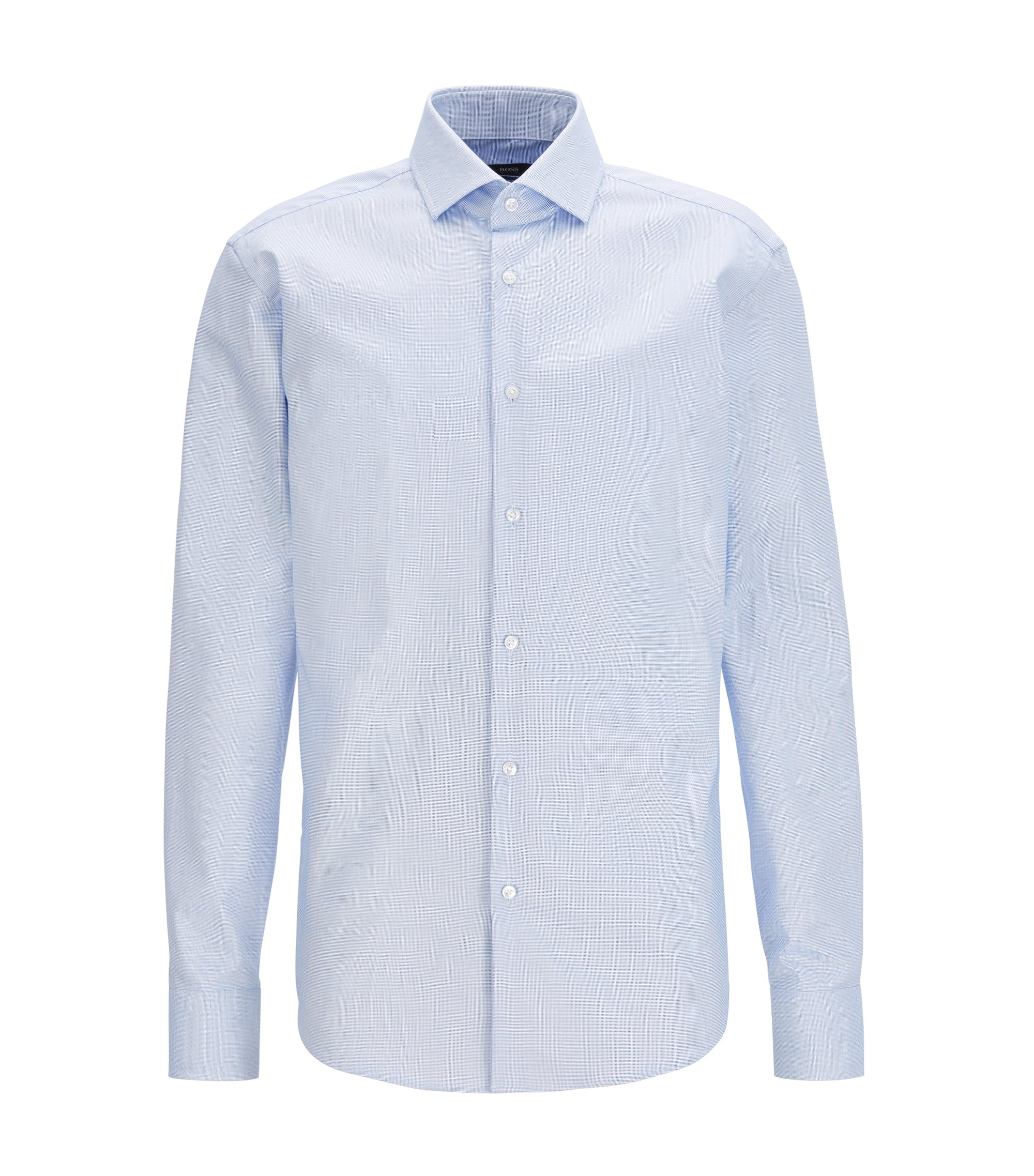 Long-sleeved shirt in Fresh Active cotton, Blue