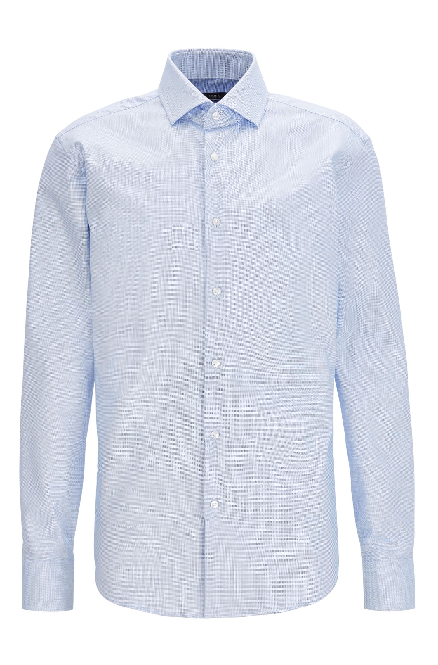 Camisa de manga larga en algodón Fresh Active, Azul