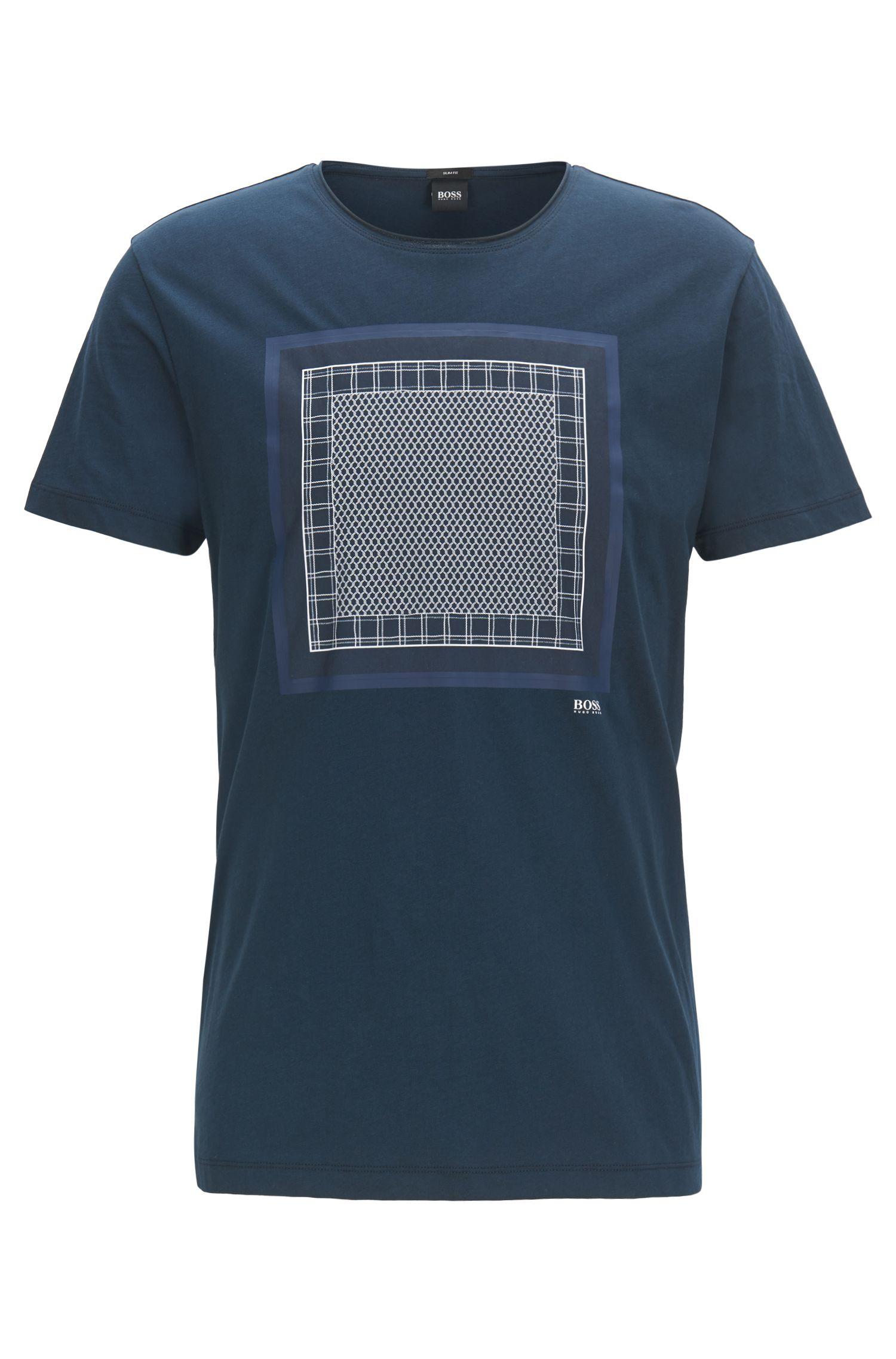 Camiseta de diferentes estampados en punto de algodón lavado