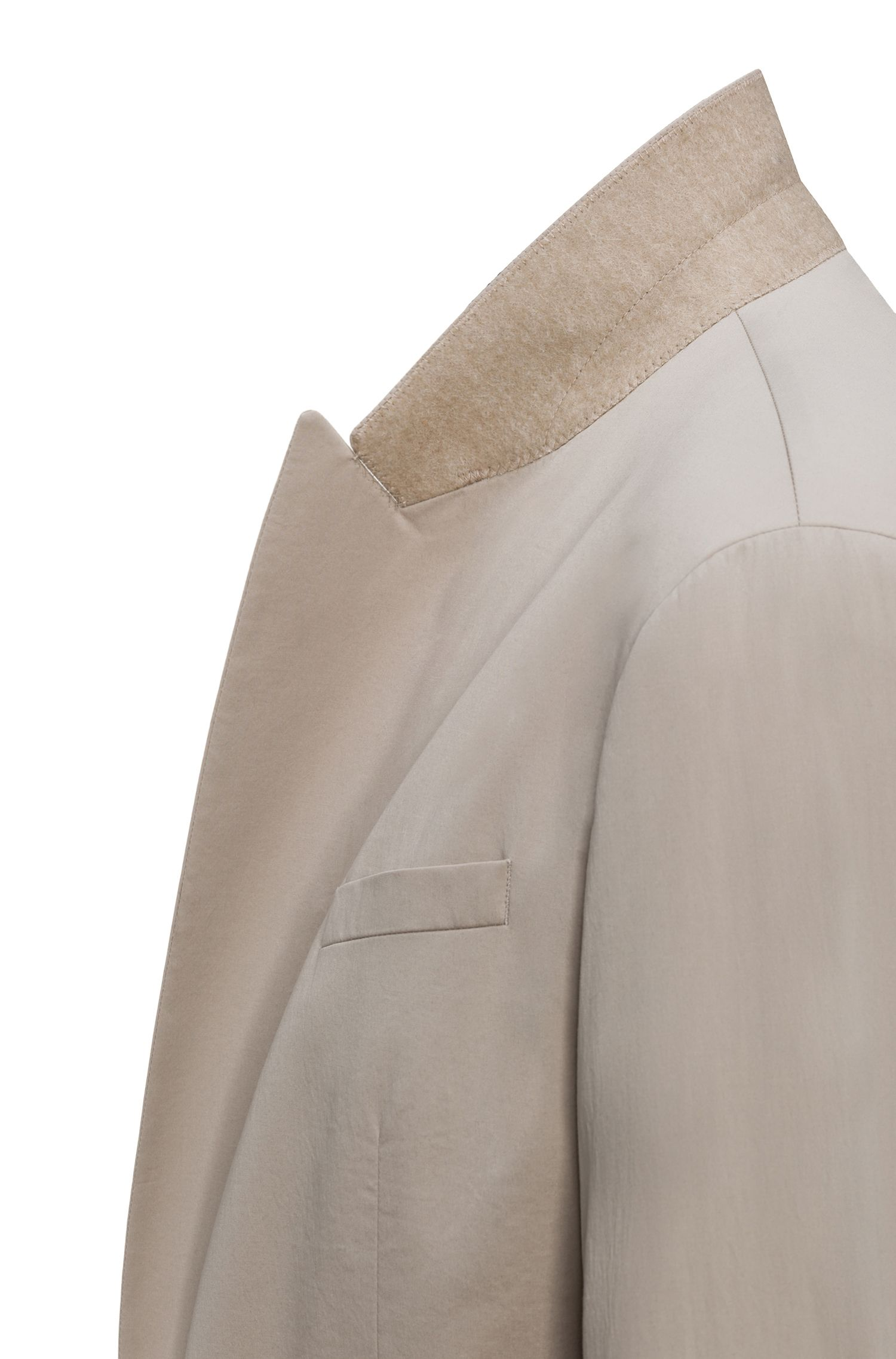 Traje cruzado oversized fit en algodón elástico