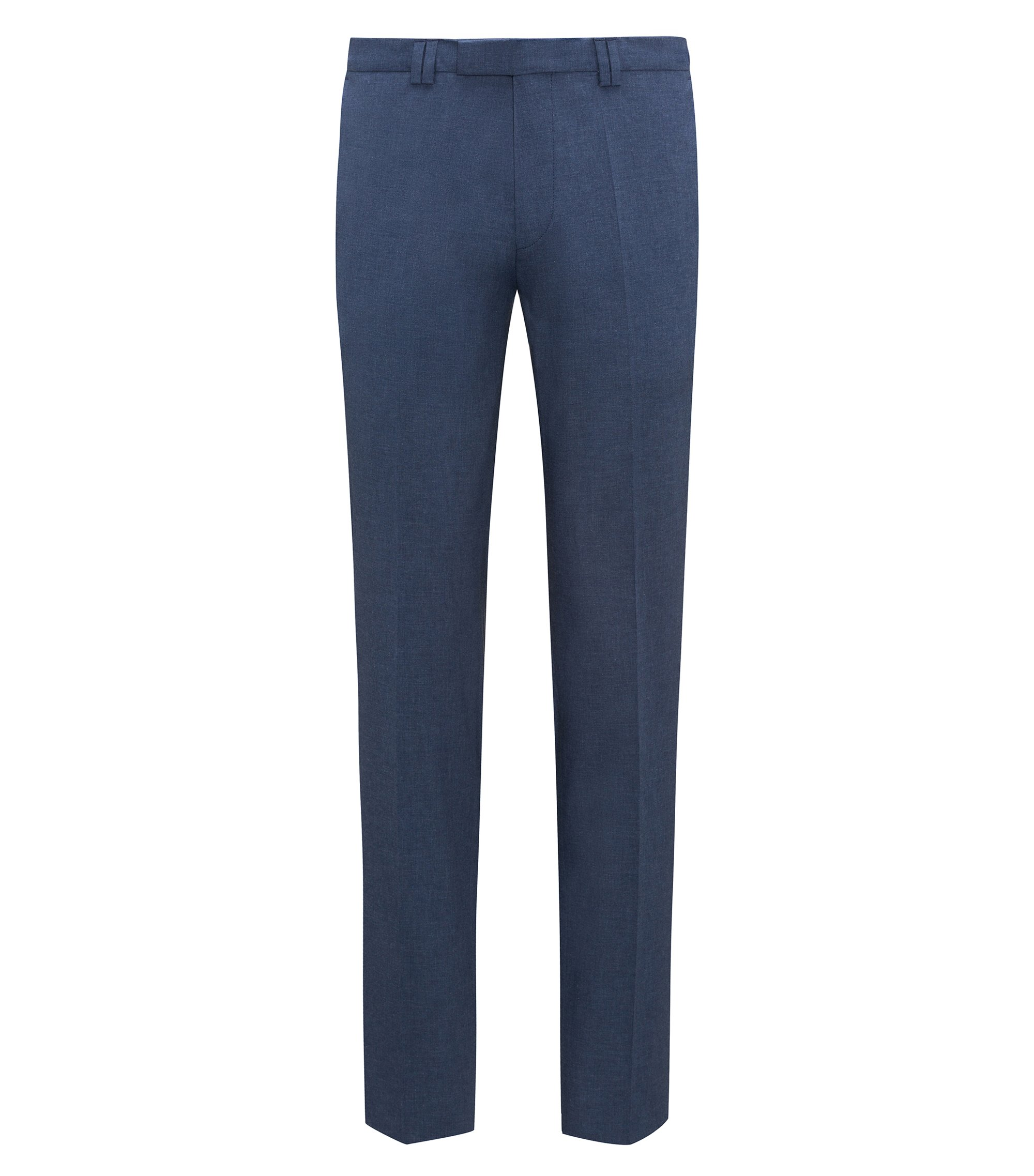 Pantalon Extra Slim Fit en coton stretch chiné, Bleu foncé