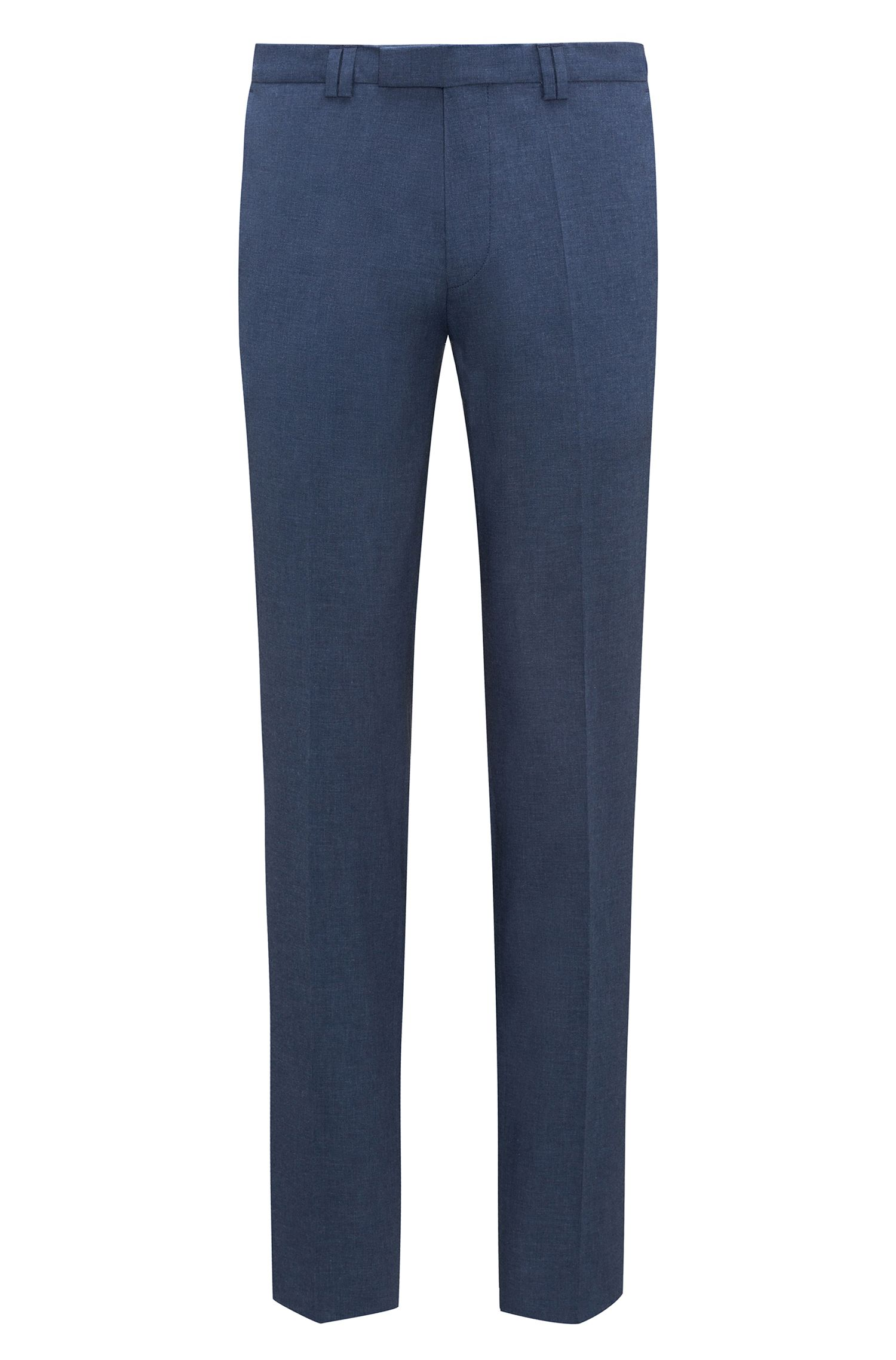 Extra-slim-fit trousers in mélange stretch cotton