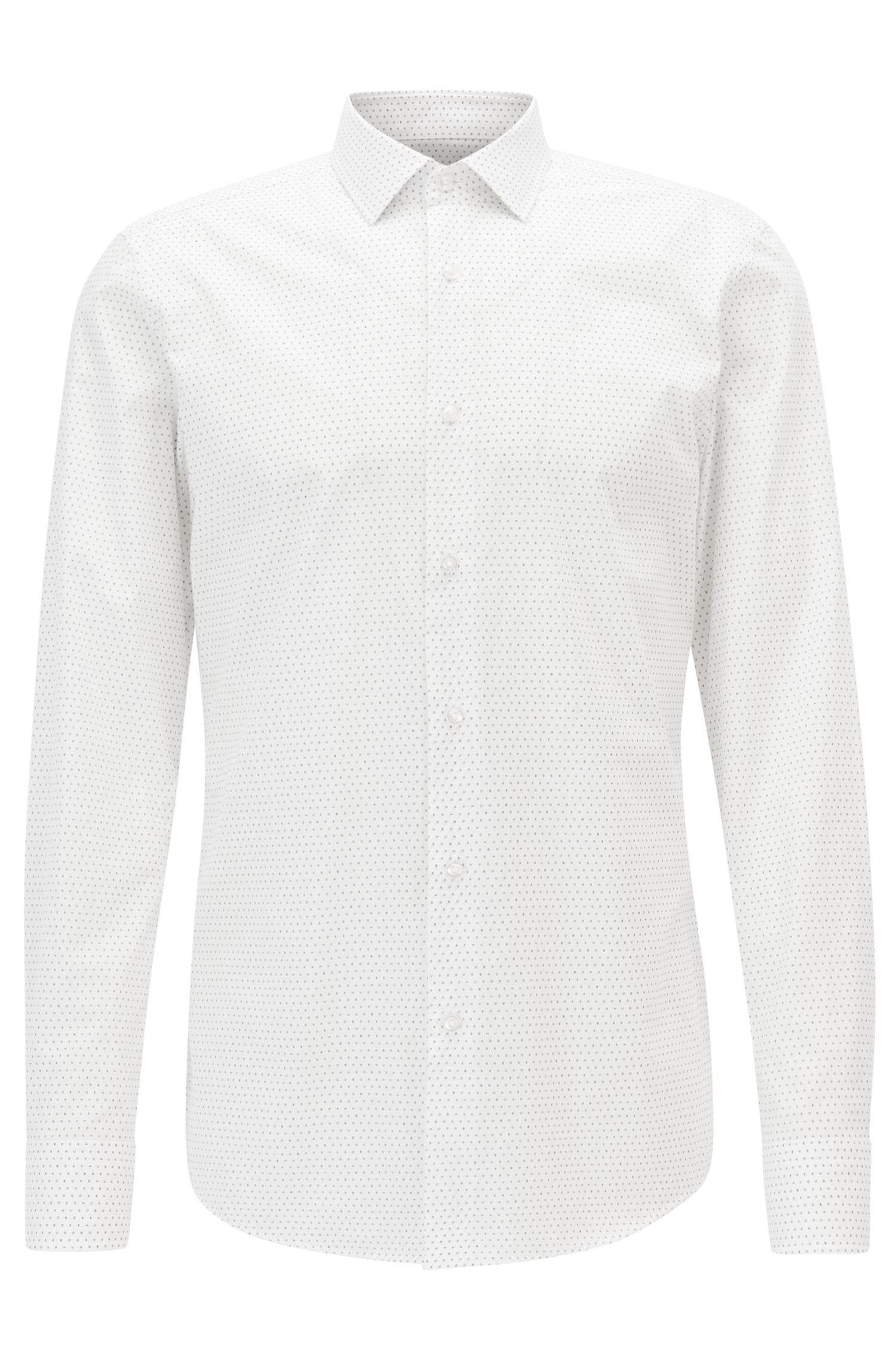 Bedrucktes Slim-Fit Hemd ausBaumwoll-Musselin