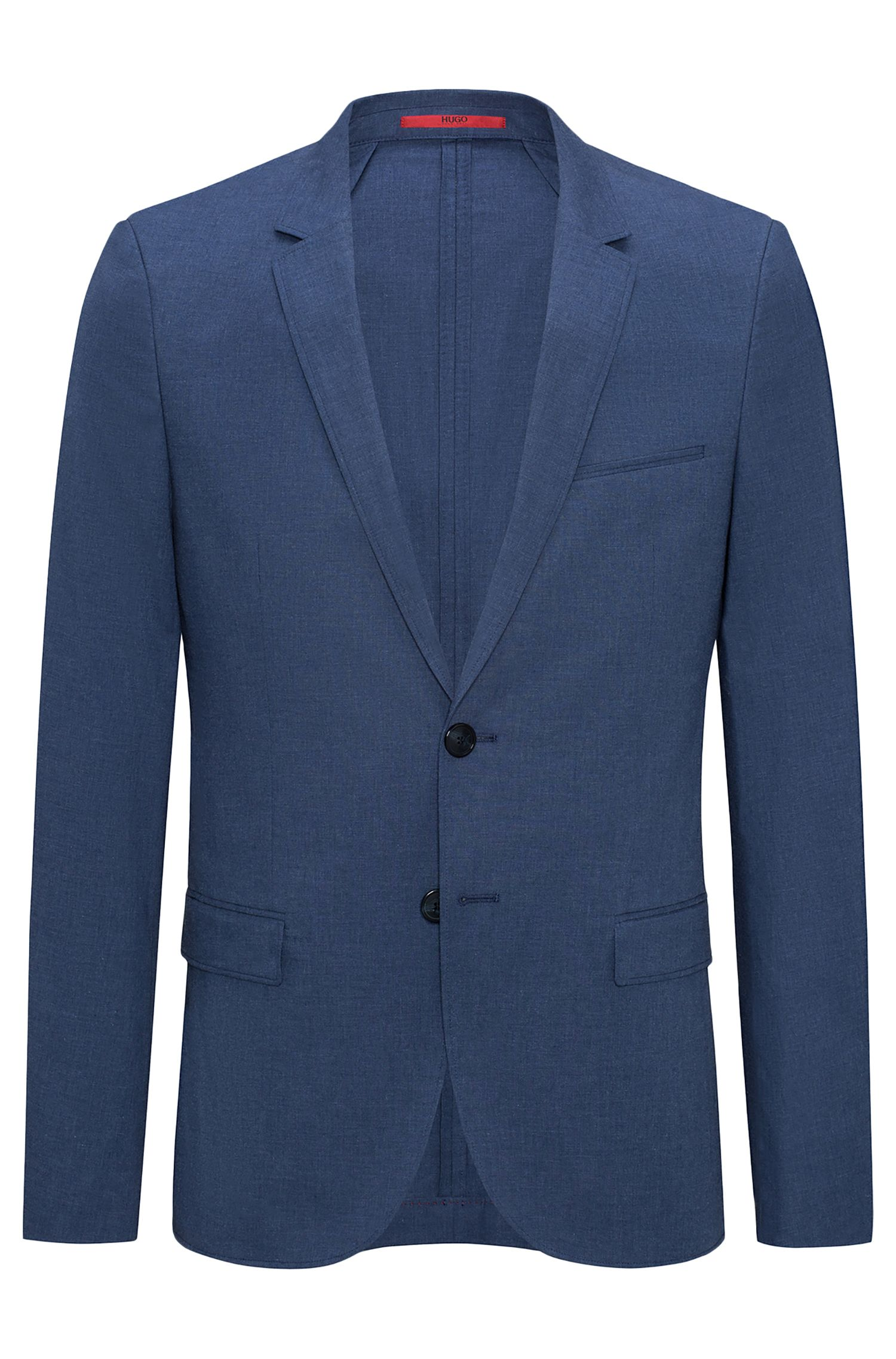 Extra-slim-fit jacket in mélange stretch cotton