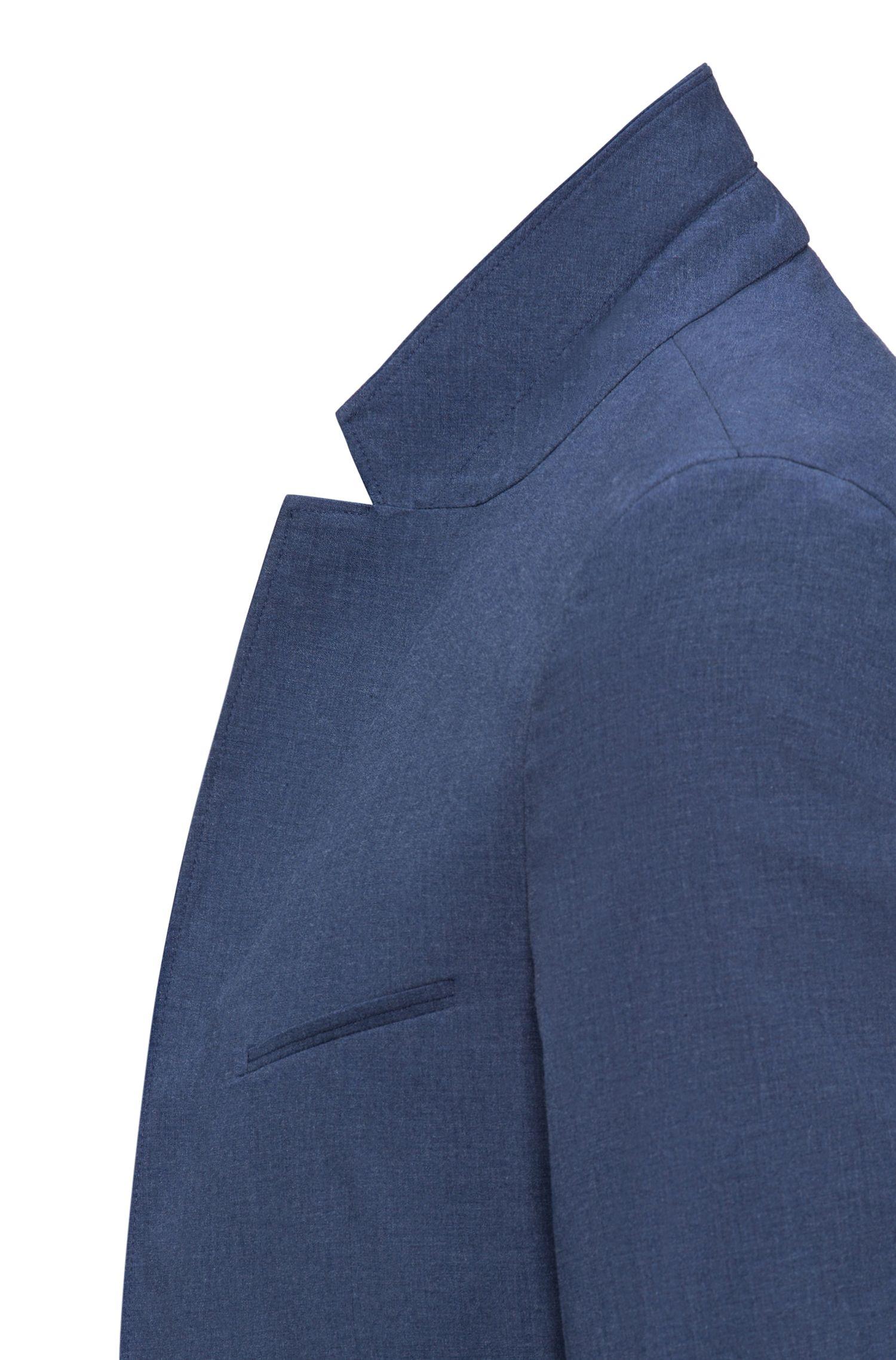 Giacca extra slim fit in cotone elasticizzato mélange