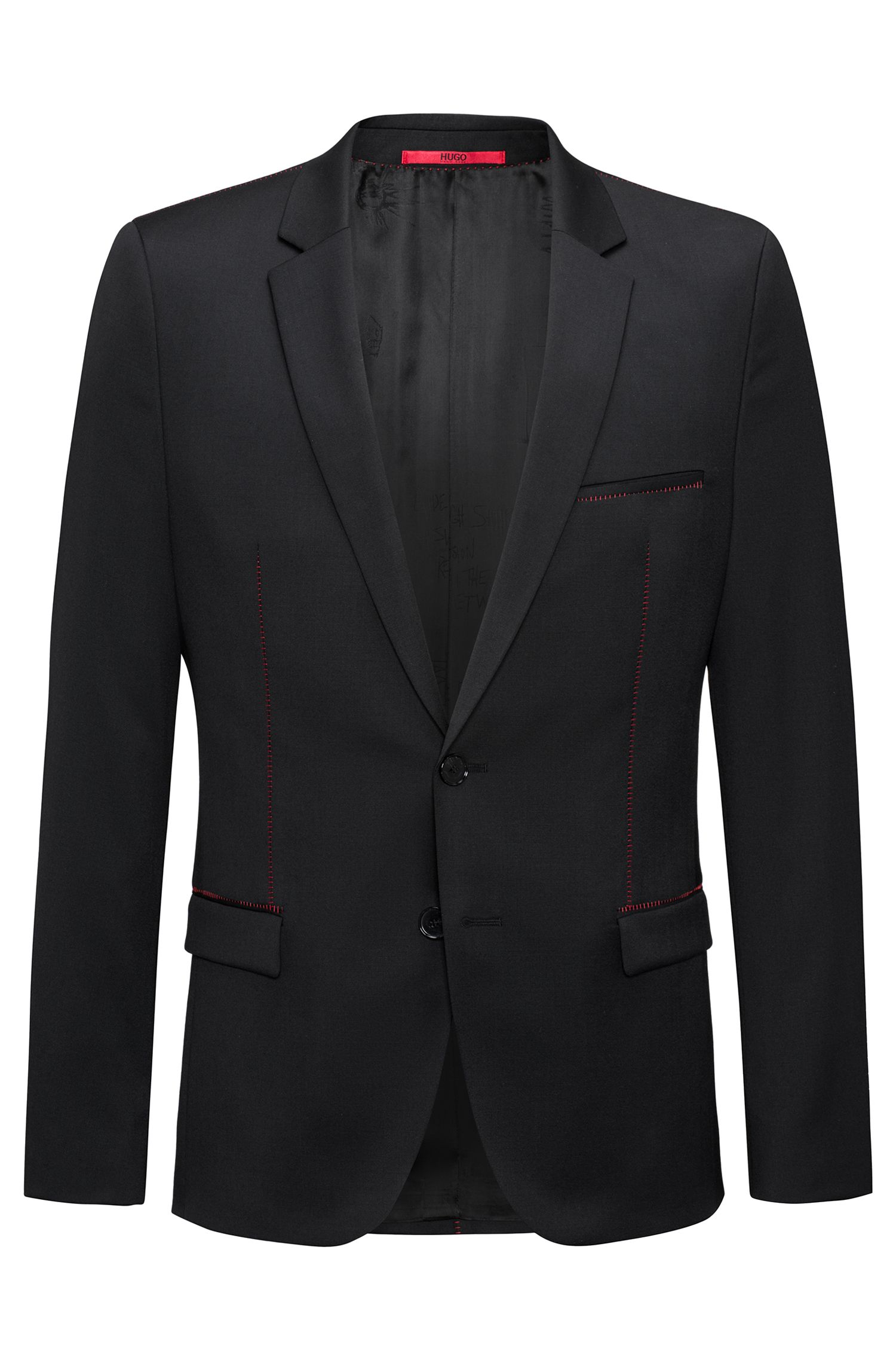 Extra-slim-fit tailored jacket in virgin wool