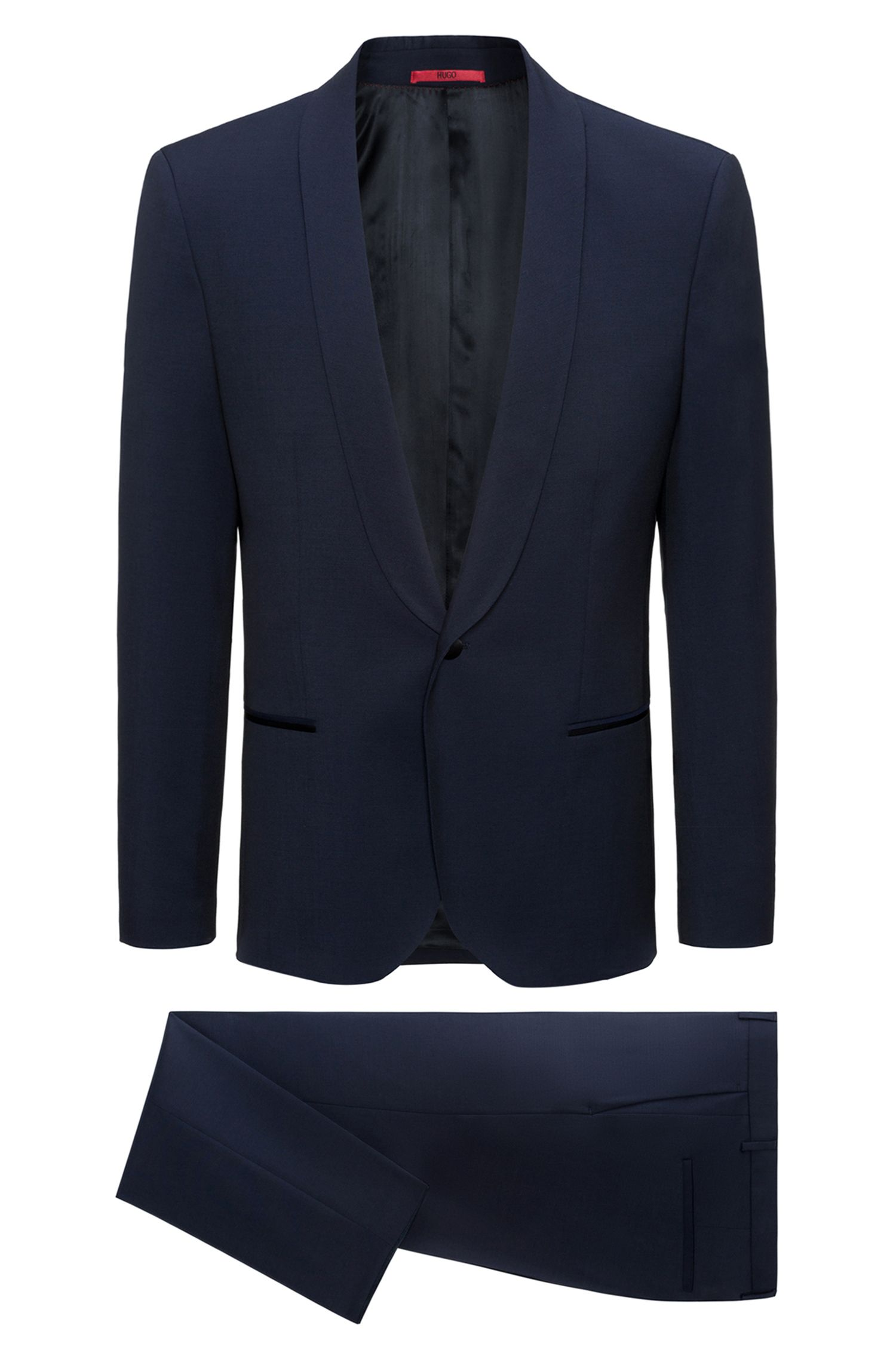 Extra Slim-Fit Anzug aus Schurwolle mit Schalrevers