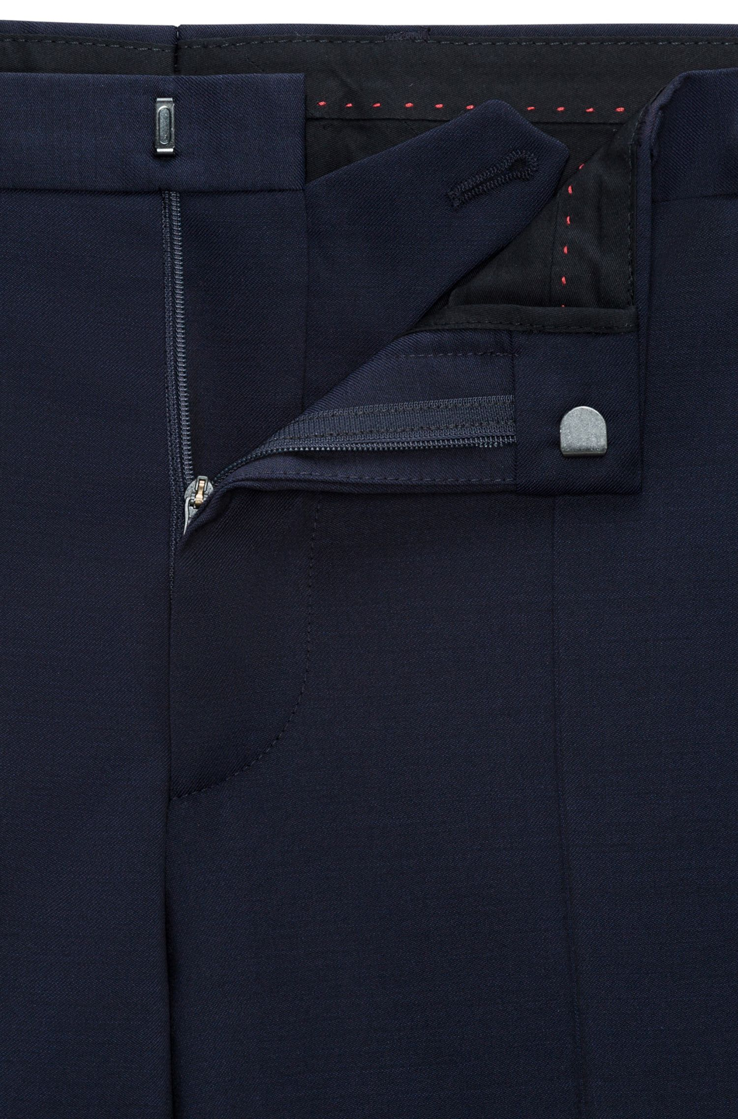 Extra-slim-fit virgin wool suit with shawl lapels