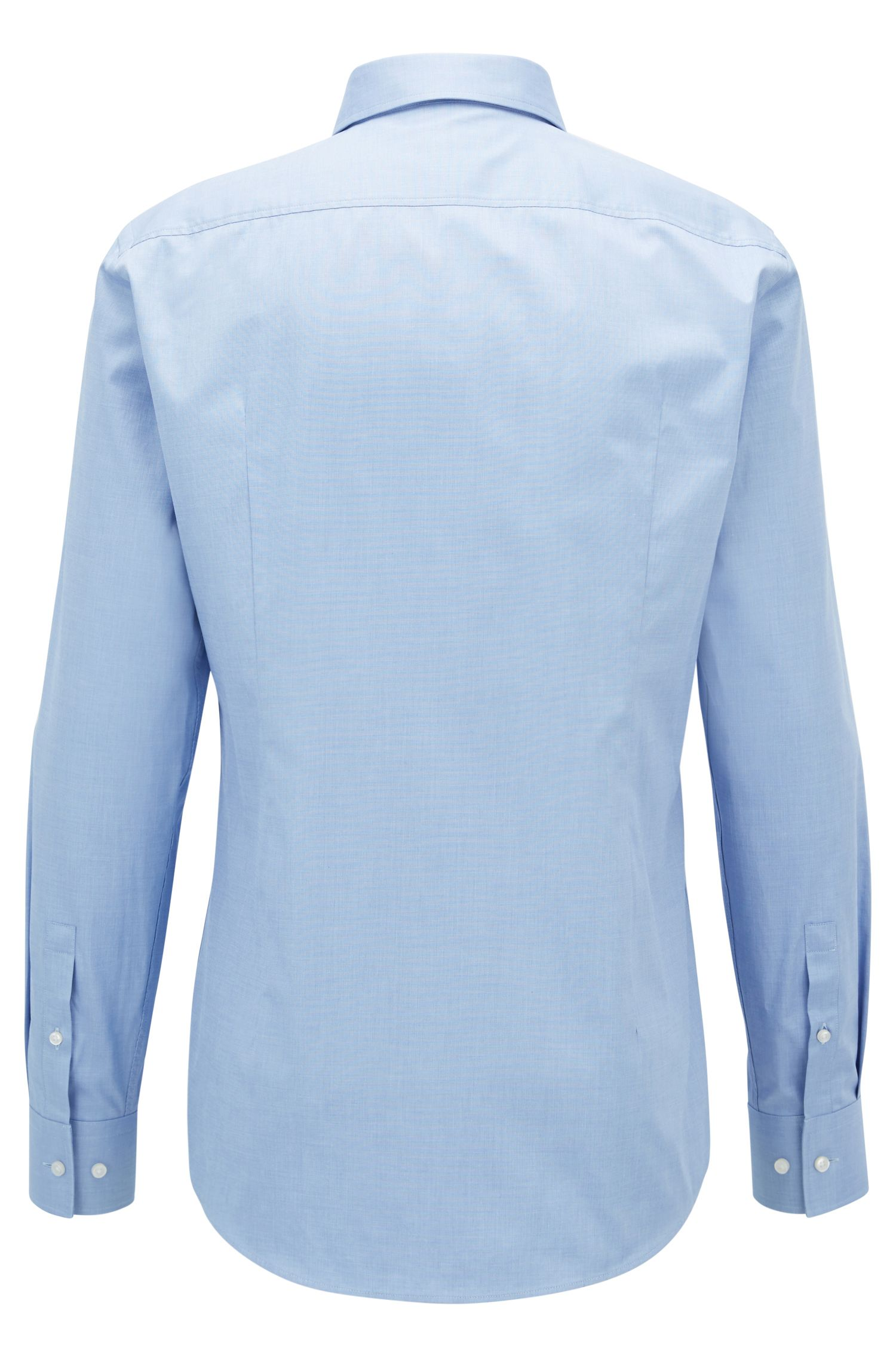 Slim-fit cotton shirt with hidden script