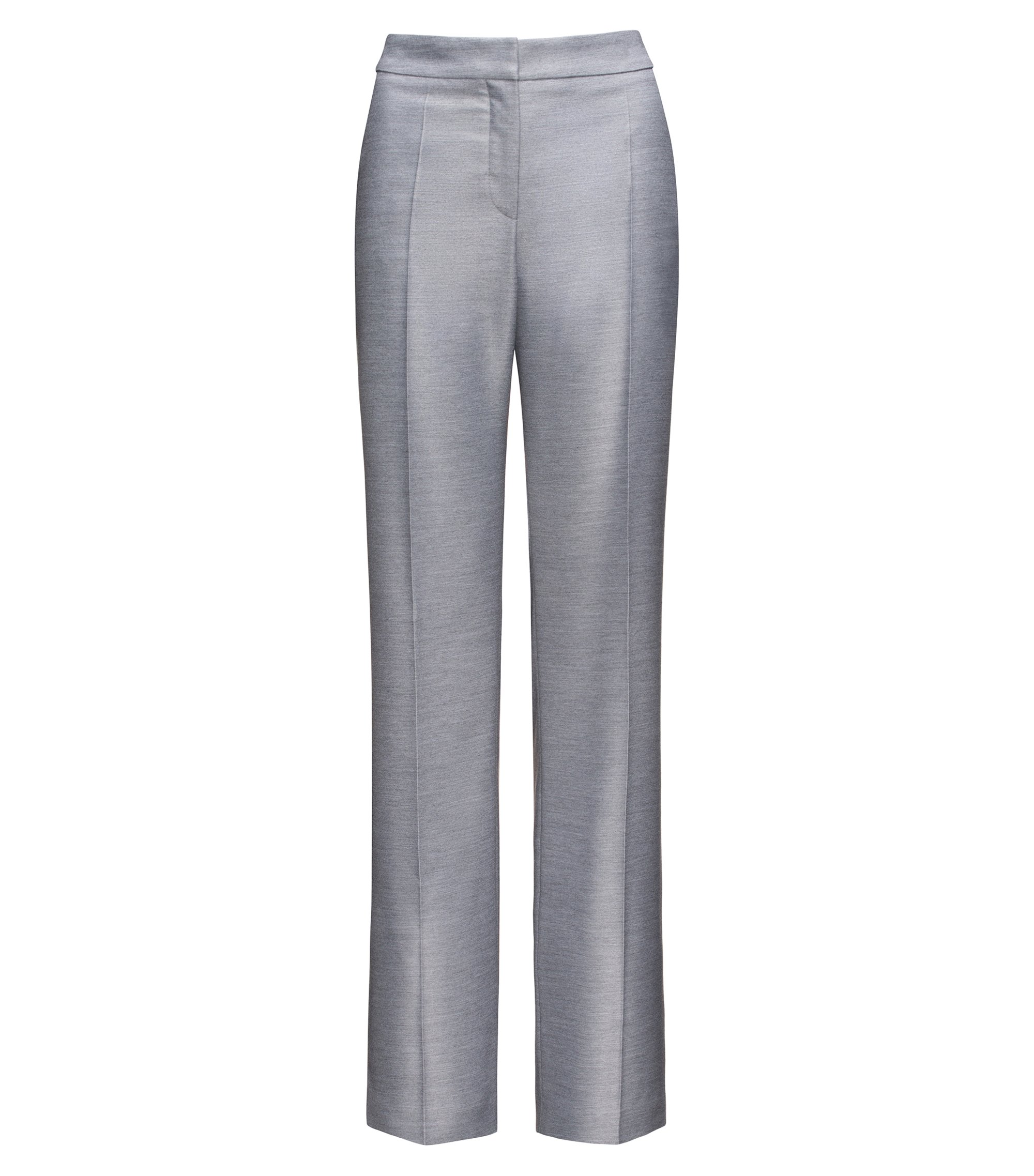 Relaxed-fit trousers with flared legs, Grey