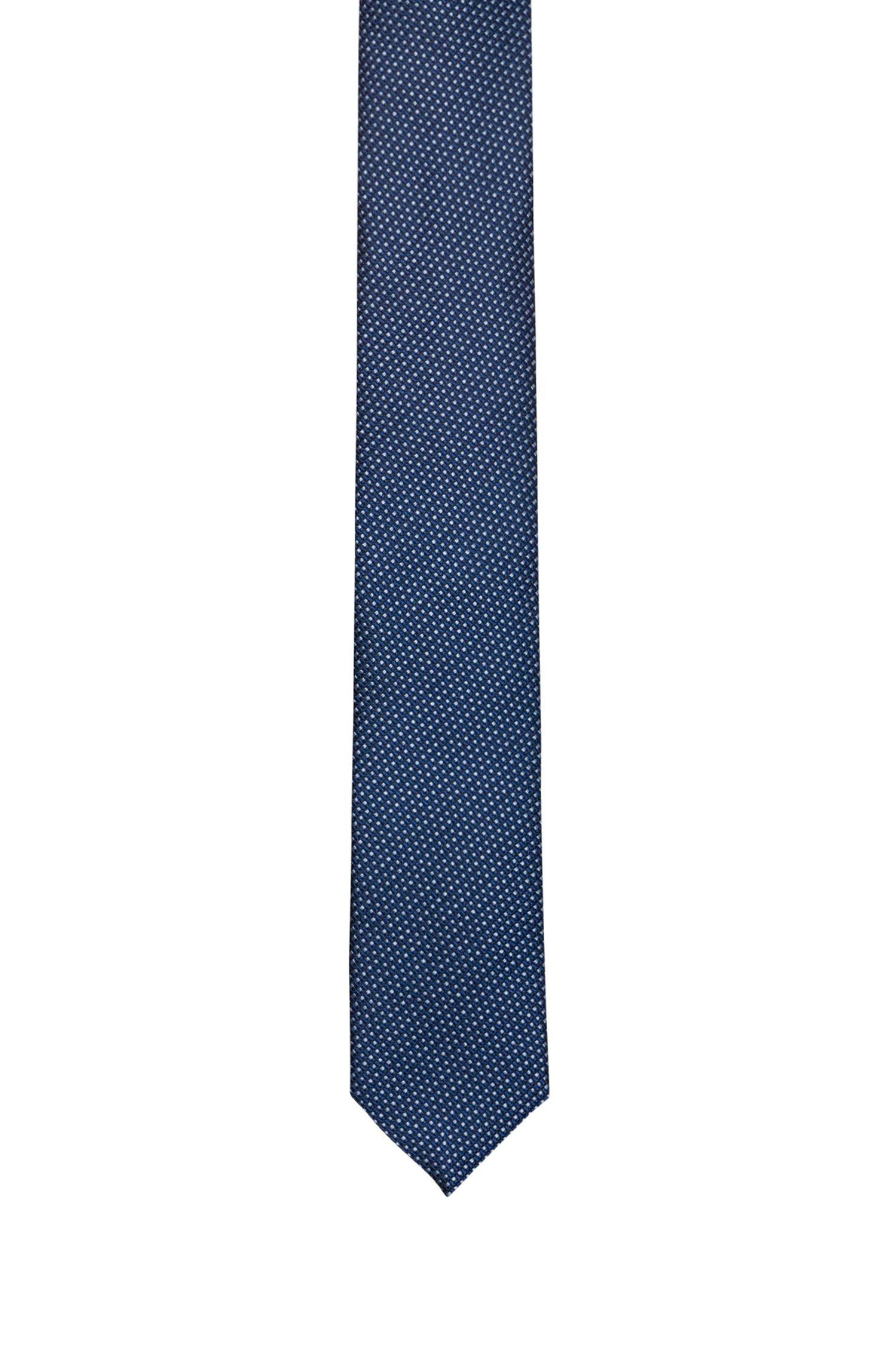 Modern micro-pattern tie in silk jacquard