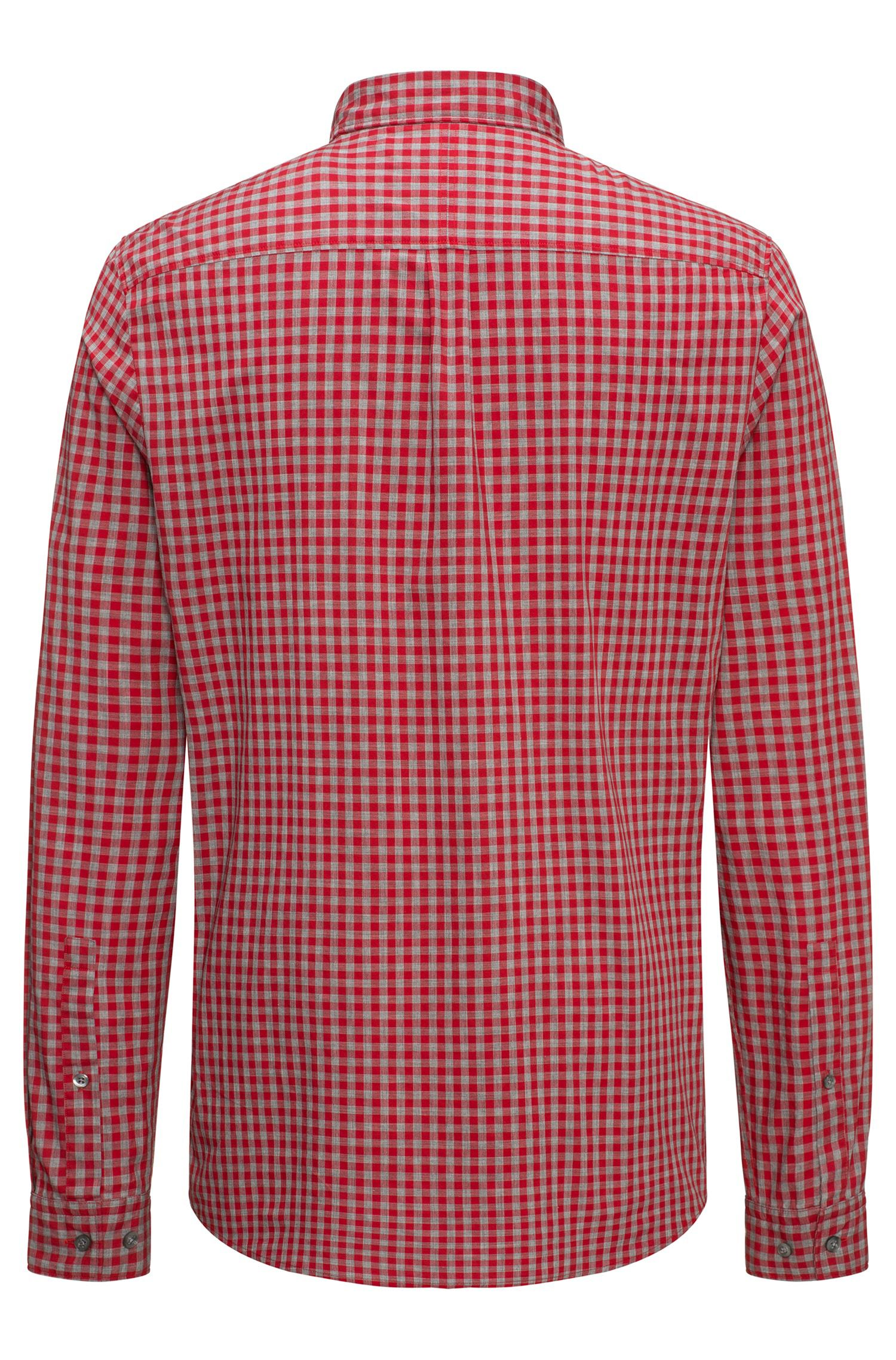 Relaxed-fit cotton shirt with a Vichy check