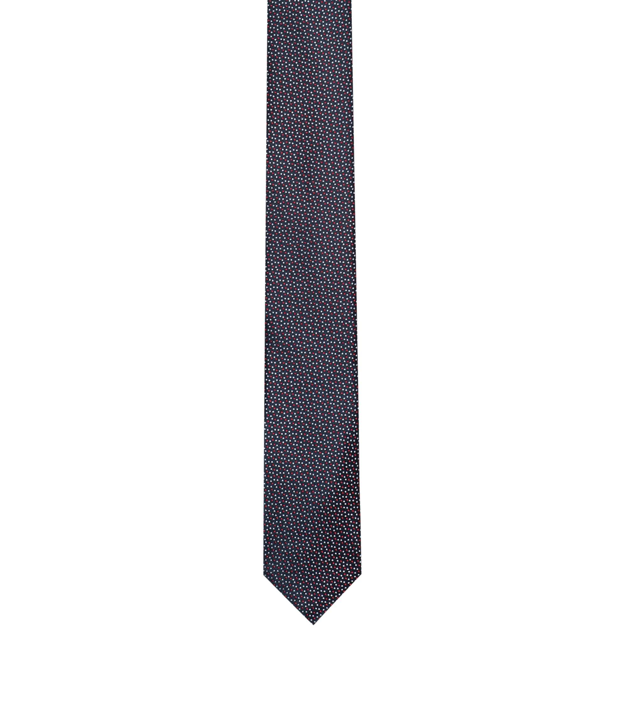 Silk tie with dot pattern, Red