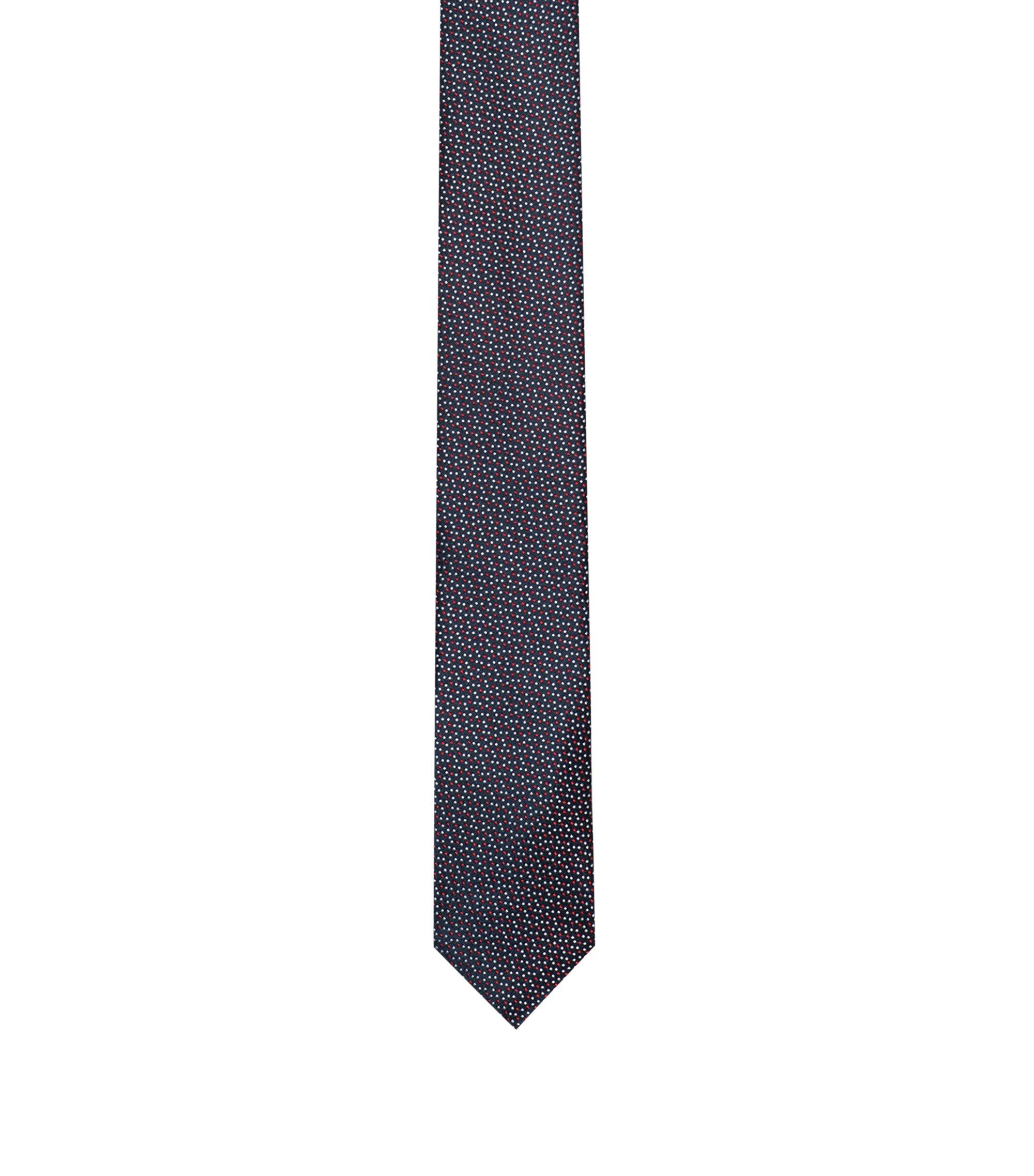 Cravate en soie à motif à pois, Rouge